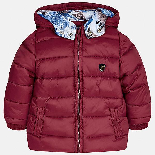 Куртка Mayoral для мальчикаВерхняя одежда<br>Характеристики товара:<br><br>• цвет: красный<br>• состав ткани: 100% полиамид<br>• подкладка: 100% полиэстер<br>• утеплитель: 100% полиэстер<br>• сезон: демисезон<br>• температурный режим: от -10 до +10<br>• особенности модели: с капюшоном, дутая<br>• капюшон: несъемный<br>• застежка: молния<br>• страна бренда: Испания<br>• страна изготовитель: Индия<br><br>Стильная детская куртка сделана из легкого, но теплого материала. Благодаря качественной ткани детской куртки для мальчика создаются комфортные условия для тела. Эта куртка для мальчика отличается стильным продуманным дизайном.<br><br>Куртку для мальчика Mayoral (Майорал) можно купить в нашем интернет-магазине.<br><br>Ширина мм: 356<br>Глубина мм: 10<br>Высота мм: 245<br>Вес г: 519<br>Цвет: красный<br>Возраст от месяцев: 12<br>Возраст до месяцев: 18<br>Пол: Мужской<br>Возраст: Детский<br>Размер: 86,80,98,92<br>SKU: 6935170