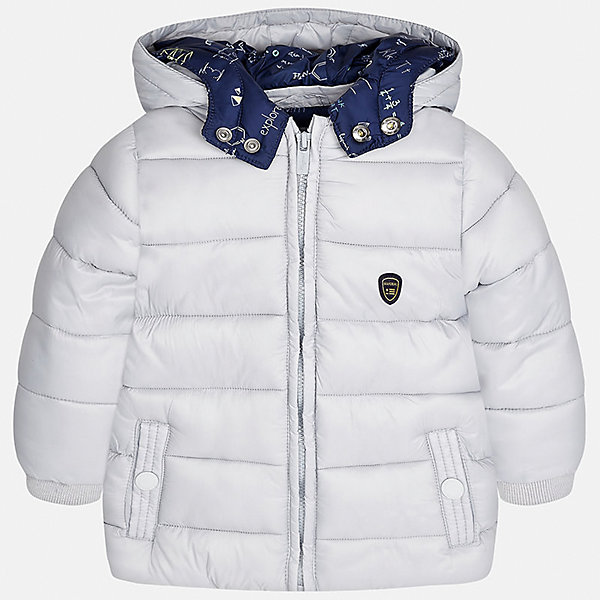 Куртка Mayoral для мальчикаВерхняя одежда<br>Характеристики товара:<br><br>• цвет: серый<br>• состав ткани: 100% полиамид<br>• подкладка: 100% полиэстер<br>• утеплитель: 100% полиэстер<br>• сезон: демисезон<br>• температурный режим: от -10 до +10<br>• особенности модели: с капюшоном, дутая<br>• капюшон: несъемный<br>• застежка: молния<br>• страна бренда: Испания<br>• страна изготовитель: Индия<br><br>Детская куртка с капюшоном отличается модным и продуманным дизайном. Теплая демисезонная куртка для мальчика от Майорал поможет обеспечить ребенку комфорт и тепло. В куртке для мальчика от испанской компании Майорал ребенок будет выглядеть модно, а чувствовать себя - комфортно. <br><br>Куртку для мальчика Mayoral (Майорал) можно купить в нашем интернет-магазине.<br><br>Ширина мм: 356<br>Глубина мм: 10<br>Высота мм: 245<br>Вес г: 519<br>Цвет: серый<br>Возраст от месяцев: 12<br>Возраст до месяцев: 15<br>Пол: Мужской<br>Возраст: Детский<br>Размер: 80,98,92,86<br>SKU: 6935175