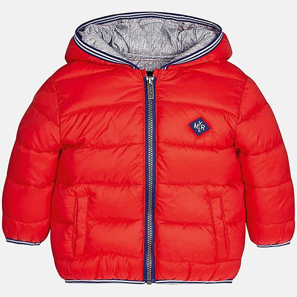 Куртка Mayoral для мальчикаВерхняя одежда<br>Характеристики товара:<br><br>• цвет: красный<br>• состав ткани: 100% полиамид<br>• подкладка: 100% полиэстер<br>• утеплитель: 100% полиэстер<br>• сезон: демисезон<br>• температурный режим: от -10 до +10<br>• особенности модели: с капюшоном, дутая, сумка в комплекте<br>• капюшон: несъемный<br>• застежка: молния<br>• страна бренда: Испания<br>• страна изготовитель: Индия<br><br>Яркая детская куртка сделана из легкого, но теплого материала. Благодаря качественной ткани детской куртки для мальчика создаются комфортные условия для тела. Эта куртка для мальчика отличается стильным продуманным дизайном.<br><br>Куртку для мальчика Mayoral (Майорал) можно купить в нашем интернет-магазине.<br>Ширина мм: 356; Глубина мм: 10; Высота мм: 245; Вес г: 519; Цвет: красный; Возраст от месяцев: 24; Возраст до месяцев: 36; Пол: Мужской; Возраст: Детский; Размер: 98,80,86,92; SKU: 6935195;