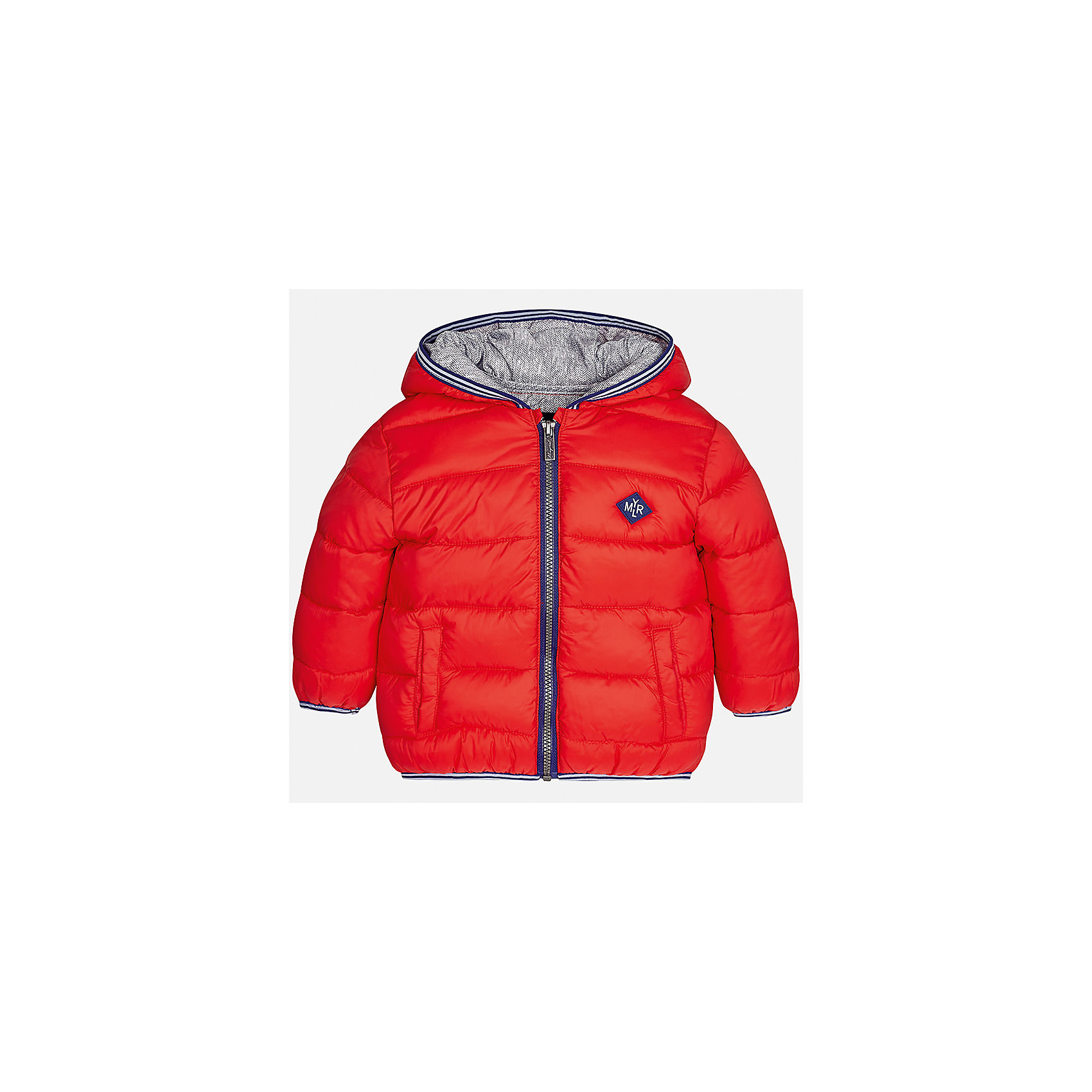 Куртка Mayoral для мальчикаВерхняя одежда<br>Характеристики товара:<br><br>• цвет: красный<br>• состав ткани: 100% полиамид<br>• подкладка: 100% полиэстер<br>• утеплитель: 100% полиэстер<br>• сезон: демисезон<br>• температурный режим: от -10 до +10<br>• особенности модели: с капюшоном, дутая, сумка в комплекте<br>• капюшон: несъемный<br>• застежка: молния<br>• страна бренда: Испания<br>• страна изготовитель: Индия<br><br>Яркая детская куртка сделана из легкого, но теплого материала. Благодаря качественной ткани детской куртки для мальчика создаются комфортные условия для тела. Эта куртка для мальчика отличается стильным продуманным дизайном.<br><br>Куртку для мальчика Mayoral (Майорал) можно купить в нашем интернет-магазине.<br><br>Ширина мм: 356<br>Глубина мм: 10<br>Высота мм: 245<br>Вес г: 519<br>Цвет: красный<br>Возраст от месяцев: 24<br>Возраст до месяцев: 36<br>Пол: Мужской<br>Возраст: Детский<br>Размер: 98,80,86,92<br>SKU: 6935195