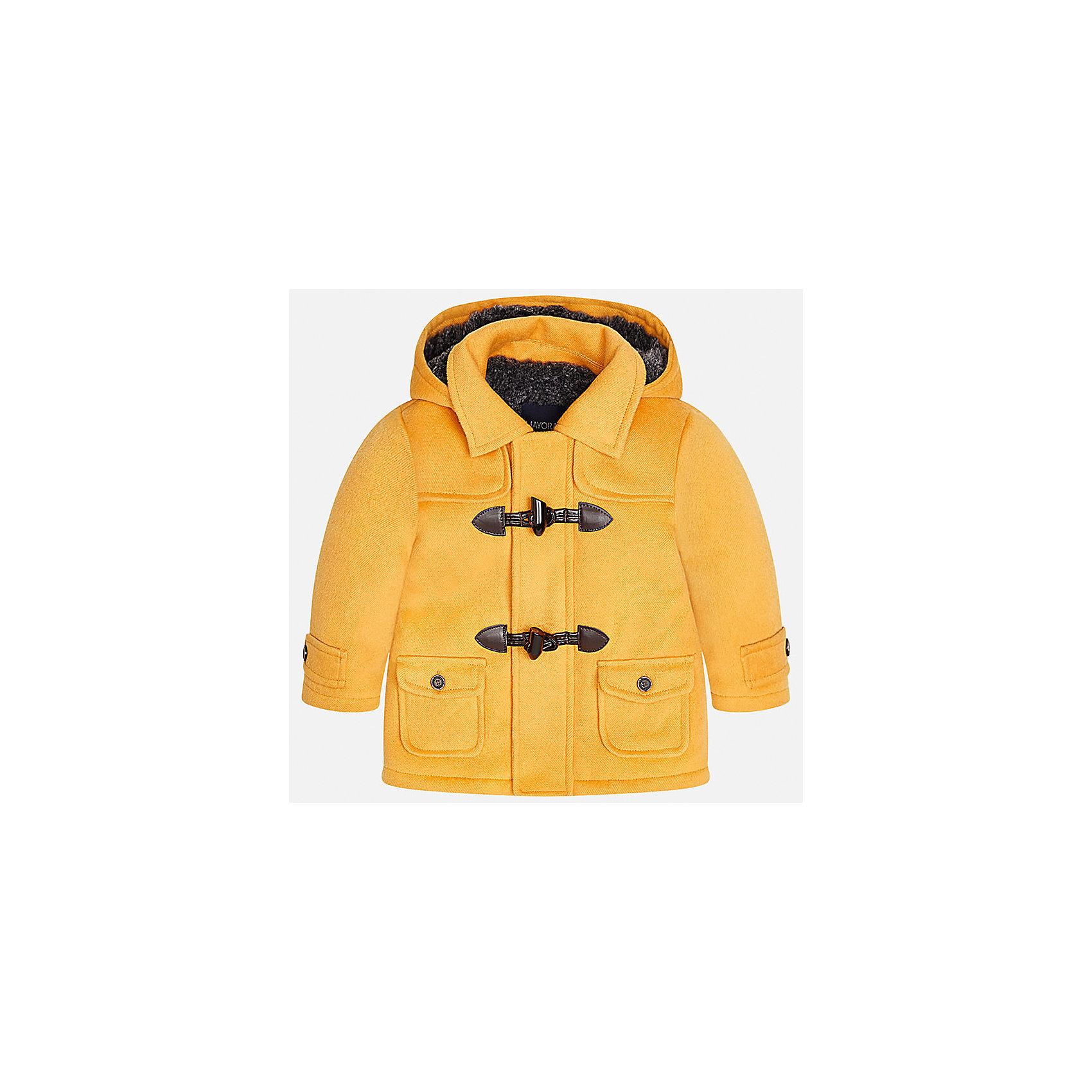 Куртка для мальчика MayoralВерхняя одежда<br>Характеристики товара:<br><br>• цвет: оранжевый<br>• состав ткани: 94% полиэстер, 4% вискоза, 2% эластан<br>• подкладка: 100% полиэстер<br>• утеплитель: 100% полиэстер<br>• сезон: демисезон<br>• температурный режим: от -10 до +10<br>• особенности куртки: с капюшоном<br>• капюшон: несъемный<br>• застежка: молния, пуговицы<br>• страна бренда: Испания<br>• страна изготовитель: Индия<br><br>Яркая детская куртка сделана из легкого, но теплого материала. Благодаря качественной ткани детской куртки для мальчика создаются комфортные условия для тела. Эта куртка для мальчика отличается стильным продуманным дизайном.<br><br>Куртку для мальчика Mayoral (Майорал) можно купить в нашем интернет-магазине.<br><br>Ширина мм: 356<br>Глубина мм: 10<br>Высота мм: 245<br>Вес г: 519<br>Цвет: оранжевый<br>Возраст от месяцев: 24<br>Возраст до месяцев: 36<br>Пол: Мужской<br>Возраст: Детский<br>Размер: 98,80,86,92<br>SKU: 6935245