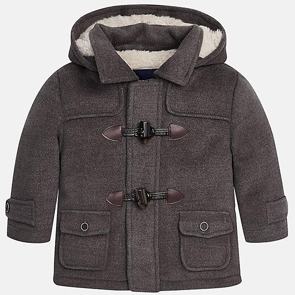 Куртка для мальчика MayoralВерхняя одежда<br>Характеристики товара:<br><br>• цвет: серый<br>• состав ткани: 94% полиэстер, 4% вискоза, 2% эластан<br>• подкладка: 100% полиэстер<br>• утеплитель: 100% полиэстер<br>• сезон: демисезон<br>• температурный режим: от -10 до +10<br>• особенности куртки: с капюшоном<br>• капюшон: несъемный<br>• застежка: молния, пуговицы<br>• страна бренда: Испания<br>• страна изготовитель: Индия<br><br>Такая детская куртка сшита из плотного на материала. Демисезонная куртка для мальчика Mayoral дополнена накладными карманами. Теплая куртка для ребенка отличается прямым силуэтом. Детская куртка обеспечит ребенку тепло и стильный внешний вид. <br><br>Куртку для мальчика Mayoral (Майорал) можно купить в нашем интернет-магазине.<br>Ширина мм: 356; Глубина мм: 10; Высота мм: 245; Вес г: 519; Цвет: серый; Возраст от месяцев: 12; Возраст до месяцев: 15; Пол: Мужской; Возраст: Детский; Размер: 80,98,92,86; SKU: 6935255;