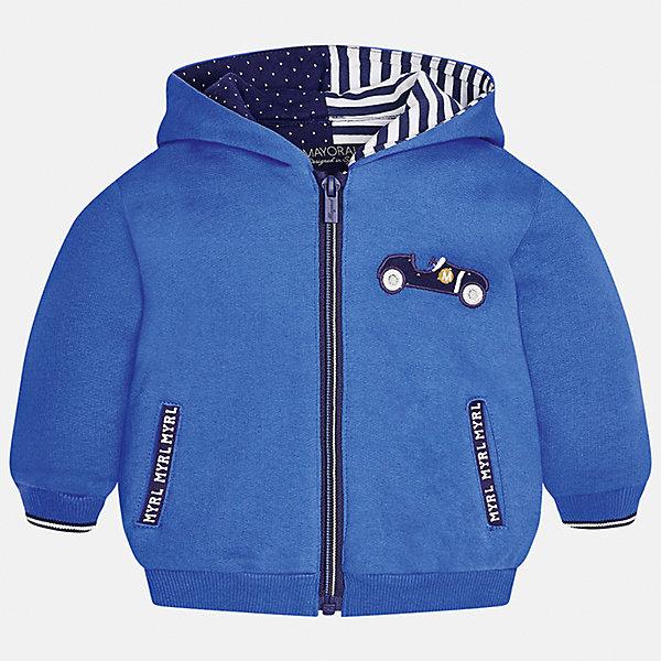Куртка для мальчика MayoralВерхняя одежда<br>Характеристики товара:<br><br>• цвет: голубой<br>• состав ткани: 65% хлопок, 35% полиэстер<br>• сезон: демисезон<br>• температурный режим: от +5 до +20<br>• особенности куртки: с капюшоном<br>• капюшон: несъемный<br>• застежка: молния<br>• страна бренда: Испания<br>• страна изготовитель: Индия<br><br>Эта детская куртка сшита из плотного на материала. Демисезонная куртка для мальчика Mayoral дополнена накладными карманами. Теплая куртка для ребенка отличается прямым силуэтом. Детская куртка обеспечит ребенку тепло и стильный внешний вид. <br><br>Куртку для мальчика Mayoral (Майорал) можно купить в нашем интернет-магазине.<br>Ширина мм: 356; Глубина мм: 10; Высота мм: 245; Вес г: 519; Цвет: голубой; Возраст от месяцев: 6; Возраст до месяцев: 9; Пол: Мужской; Возраст: Детский; Размер: 74,98,92,86,80; SKU: 6935272;