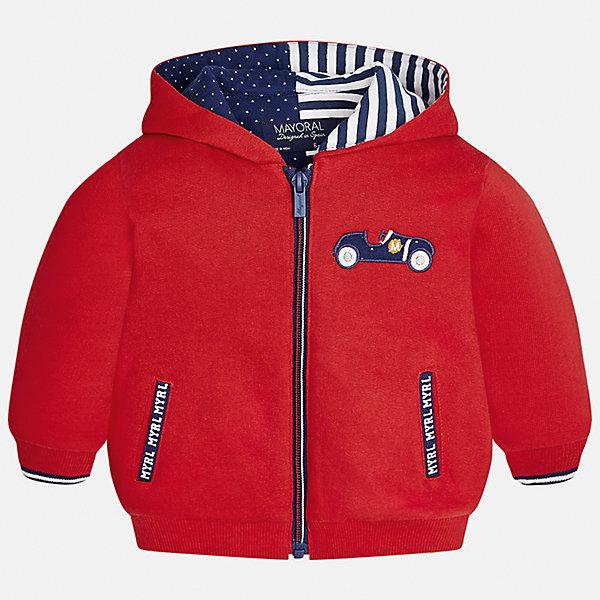 Куртка Mayoral для мальчикаВерхняя одежда<br>Характеристики товара:<br><br>• цвет: красный<br>• состав ткани: 65% хлопок, 35% полиэстер<br>• сезон: демисезон<br>• температурный режим: от +5 до +20<br>• особенности куртки: с капюшоном<br>• капюшон: несъемный<br>• застежка: молния<br>• страна бренда: Испания<br>• страна изготовитель: Индия<br><br>Демисезонная детская куртка сделана из легкого, но теплого материала. Благодаря качественной ткани детской куртки для мальчика создаются комфортные условия для тела. Эта куртка для мальчика отличается стильным продуманным дизайном.<br><br>Куртку для мальчика Mayoral (Майорал) можно купить в нашем интернет-магазине.<br>Ширина мм: 356; Глубина мм: 10; Высота мм: 245; Вес г: 519; Цвет: красный; Возраст от месяцев: 12; Возраст до месяцев: 15; Пол: Мужской; Возраст: Детский; Размер: 80,74,98,92,86; SKU: 6935278;