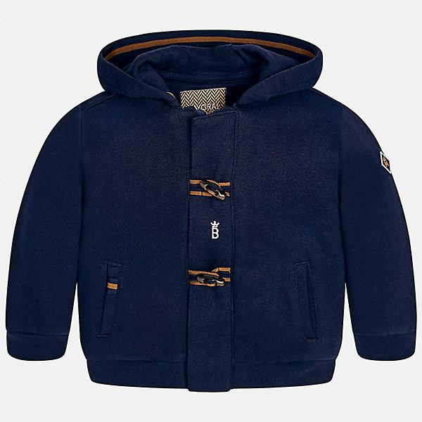 Куртка Mayoral для мальчикаВерхняя одежда<br>Характеристики товара:<br><br>• цвет: синий<br>• состав ткани: 100% хлопок<br>• сезон: демисезон<br>• температурный режим: от +10 до +20<br>• особенности куртки: с капюшоном, на молнии<br>• капюшон: несъемный<br>• застежка: молния, пуговица<br>• страна бренда: Испания<br>• страна изготовитель: Индия<br><br>Эта демисезонная куртка для мальчика от Майорал поможет обеспечить ребенку комфорт и тепло. Детская куртка отличается модным и продуманным дизайном. В куртке для мальчика от испанской компании Майорал ребенок будет выглядеть модно, а чувствовать себя - комфортно. <br><br>Куртку для мальчика Mayoral (Майорал) можно купить в нашем интернет-магазине.<br>Ширина мм: 356; Глубина мм: 10; Высота мм: 245; Вес г: 519; Цвет: синий; Возраст от месяцев: 12; Возраст до месяцев: 18; Пол: Мужской; Возраст: Детский; Размер: 86,74,98,92,80; SKU: 6935284;