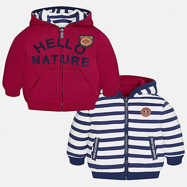Куртка для мальчика MayoralВерхняя одежда<br>Характеристики товара:<br><br>• цвет: красный/синий/белый<br>• состав ткани: 65% хлопок, 35% полиэстер<br>• сезон: демисезон<br>• температурный режим: от +5 до +20<br>• особенности куртки: с капюшоном, двусторонняя<br>• капюшон: несъемный<br>• застежка: молния<br>• страна бренда: Испания<br>• страна изготовитель: Индия<br><br>Двусторонняя детская куртка сшита из плотного на материала. Демисезонная куртка для мальчика Mayoral дополнена накладными карманами. Теплая куртка для ребенка отличается прямым силуэтом. Детская куртка обеспечит ребенку тепло и стильный внешний вид. <br><br>Куртку для мальчика Mayoral (Майорал) можно купить в нашем интернет-магазине.<br>Ширина мм: 356; Глубина мм: 10; Высота мм: 245; Вес г: 519; Цвет: синий/красный; Возраст от месяцев: 6; Возраст до месяцев: 9; Пол: Мужской; Возраст: Детский; Размер: 74,98,92,86,80; SKU: 6935290;