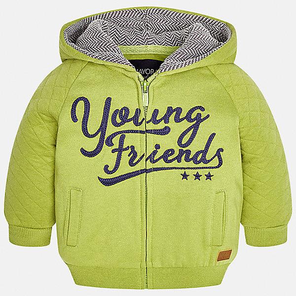 Куртка Mayoral для мальчикаВерхняя одежда<br>Характеристики товара:<br><br>• цвет: зеленый<br>• состав ткани: 60% хлопок, 40% полиэстер<br>• сезон: демисезон<br>• температурный режим: от +10 до +20<br>• особенности куртки: с капюшоном, на молнии<br>• капюшон: несъемный<br>• застежка: молния<br>• страна бренда: Испания<br>• страна изготовитель: Индия<br><br>Такая демисезонная куртка для мальчика от Майорал поможет обеспечить ребенку комфорт и тепло. Детская куртка отличается модным и продуманным дизайном. В куртке для мальчика от испанской компании Майорал ребенок будет выглядеть модно, а чувствовать себя - комфортно. <br><br>Куртку для мальчика Mayoral (Майорал) можно купить в нашем интернет-магазине.<br><br>Ширина мм: 356<br>Глубина мм: 10<br>Высота мм: 245<br>Вес г: 519<br>Цвет: зеленый<br>Возраст от месяцев: 6<br>Возраст до месяцев: 9<br>Пол: Мужской<br>Возраст: Детский<br>Размер: 74,98,80,86,92<br>SKU: 6935302