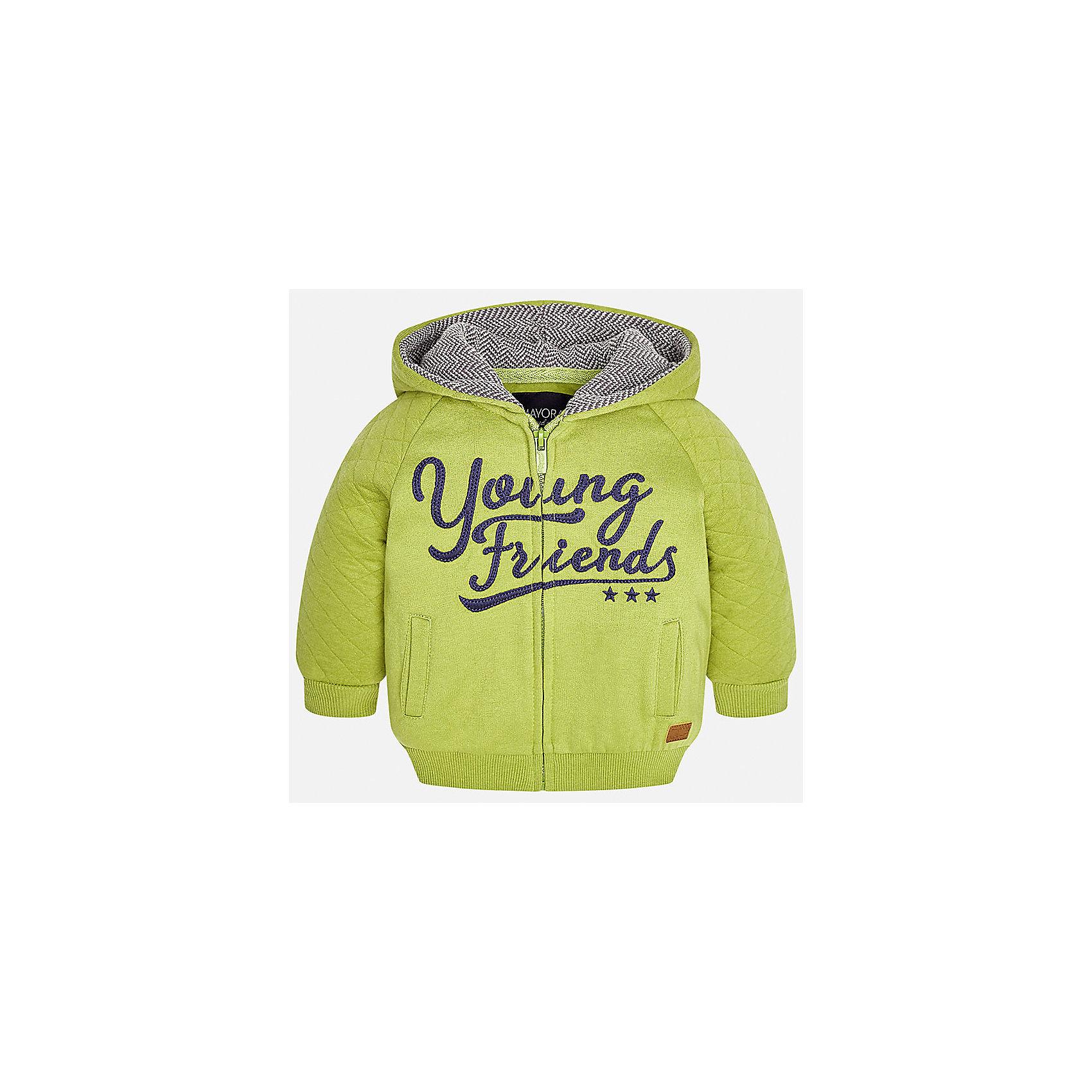 Куртка Mayoral для мальчикаВерхняя одежда<br>Характеристики товара:<br><br>• цвет: зеленый<br>• состав ткани: 60% хлопок, 40% полиэстер<br>• сезон: демисезон<br>• температурный режим: от +10 до +20<br>• особенности куртки: с капюшоном, на молнии<br>• капюшон: несъемный<br>• застежка: молния<br>• страна бренда: Испания<br>• страна изготовитель: Индия<br><br>Такая демисезонная куртка для мальчика от Майорал поможет обеспечить ребенку комфорт и тепло. Детская куртка отличается модным и продуманным дизайном. В куртке для мальчика от испанской компании Майорал ребенок будет выглядеть модно, а чувствовать себя - комфортно. <br><br>Куртку для мальчика Mayoral (Майорал) можно купить в нашем интернет-магазине.<br><br>Ширина мм: 356<br>Глубина мм: 10<br>Высота мм: 245<br>Вес г: 519<br>Цвет: бежевый<br>Возраст от месяцев: 6<br>Возраст до месяцев: 9<br>Пол: Мужской<br>Возраст: Детский<br>Размер: 74,98,80,86,92<br>SKU: 6935302