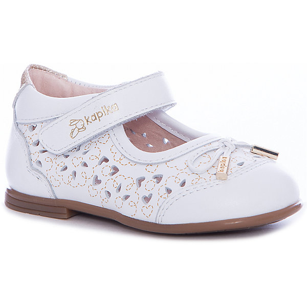 Туфли Kapika для девочкиНарядная обувь<br>Характеристики товара:<br><br>• цвет: белый<br>• внешний материал: натуральная кожа<br>• внутренний материал: натуральная кожа<br>• стелька: натуральная кожа<br>• подошва: ТЭП<br>• сезон: круглый год<br>• особенности модели: школьная, нарядная<br>• застежка: липучка<br>• анатомические <br>• страна бренда: Россия<br>• страна изготовитель: Китай<br><br>Модные и комфортные туфли для девочки Kapika сделаны из натуральной кожи. Благодаря удобной застежке они легко надеваются и хорошо сидят на ноге.<br><br>Обувь для детей Капика - это качественные и удобные товары. Модель нарядно смотрится и хорошо сидит на ноге. Модели обуви от бренда Kapika созданы с учетом последних тенденций в моде и особенностей строения детской стопы.<br><br>Туфли для девочки Kapika (Капика) можно купить в нашем интернет-магазине.<br>Ширина мм: 227; Глубина мм: 145; Высота мм: 124; Вес г: 325; Цвет: белый; Возраст от месяцев: 21; Возраст до месяцев: 24; Пол: Женский; Возраст: Детский; Размер: 24,21,22,23; SKU: 6936292;