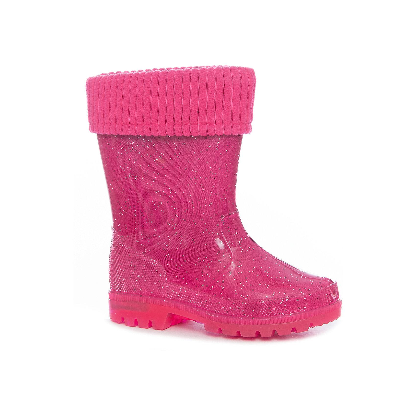 Резиновые сапоги Kapika для девочкиРезиновые сапоги<br>Характеристики товара:<br><br>• цвет: фуксия<br>• внешний материал: ПВХ<br>• внутренний материал: текстиль<br>• стелька: натуральная кожа<br>• подошва: ПВХ<br>• сезон: демисезон<br>• температурный режим: от 0 до +15<br>• съемный внутренний сапожок<br>• подошва не скользит<br>• непромокаемые<br>• анатомические <br>• страна бренда: Россия<br>• страна изготовитель: Китай<br><br>Резиновые сапоги Kapika модно выглядят и удобно сидят на ноге. Эта модель детских резиновых сапог обеспечить ногам сухость и комфорт в межсезонье. <br><br>Модель декорирована принтом и дополнена съемным внутренним сапожком. Сапоги сделаны из прочного материала, подходят для осеннего и весеннего сезона. Обувь для детей от популярного бренда Капика - это качественные и удобные товары. <br><br>Сапоги для девочки Kapika (Капика) можно купить в нашем интернет-магазине.<br><br>Ширина мм: 257<br>Глубина мм: 180<br>Высота мм: 130<br>Вес г: 420<br>Цвет: розовый<br>Возраст от месяцев: 72<br>Возраст до месяцев: 84<br>Пол: Женский<br>Возраст: Детский<br>Размер: 30,25,26,27,28,29<br>SKU: 6938048