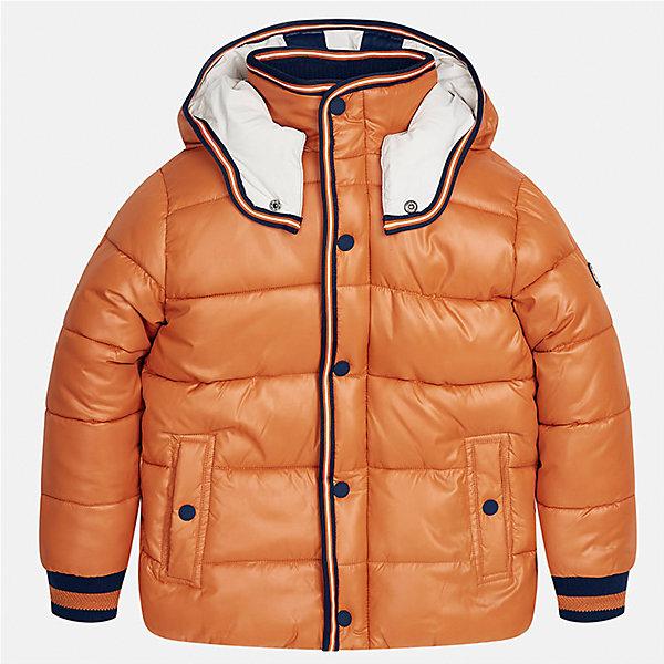 Куртка для мальчика MayoralДемисезонные куртки<br>Характеристики товара:<br><br>• цвет: светло-коричневый;<br>• сезон: демисезон;<br>• температурный режим: от 0 до +10С;<br>• состав ткани: 100% полиэстер;<br>• состав подкладки: 100% хлопок;<br>• на молнии;<br>• капюшон:  отстегивается, без меха;<br>• страна бренда: Испания;<br>• страна изготовитель: Китай.<br><br>Утепленная демисезонная куртка для мальчика от популярного бренда Mayoral несомненно понравится вам и вашему ребенку. Качественные ткани, безупречное исполнение, все модели в центре модных тенденций. <br><br>Стеганная модель рыжего цвета выполнена из мягкой плащевой  ткани и внутренней флисовой подкладки, обеспечивающие хорошую воздухопроницаемую защиту,  рукава, вортник и пояс на внутренних элестичных манжетах. Застегивается на молнию и кнопки, капюшон  отстегивается с помощью кнопок,  боковые карманы спереди на кнопках. Декорирована контрастной оконтовко и нашивкой-логотипом на рукаве.<br><br>Легкая и теплая куртка с капюшоном и карманами на холодную осень-весну. Грамотный крой изделия обеспечивает отличную посадку по фигуре. Все эти преимущества делают данную модель незаменимой для активных прогулок и повседневной носки.<br><br>Утепленная демисезонная куртка для мальчика Mayoral (Майорал) можно купить в нашем интернет-магазине.<br>Ширина мм: 356; Глубина мм: 10; Высота мм: 245; Вес г: 519; Цвет: светло-коричневый; Возраст от месяцев: 96; Возраст до месяцев: 108; Пол: Мужской; Возраст: Детский; Размер: 128/134,170,164,158,152,140; SKU: 6938789;