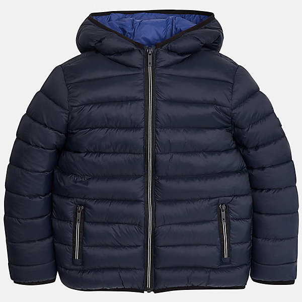Куртка для мальчика MayoralВерхняя одежда<br>Характеристики товара:<br><br>• цвет: темно-синий;<br>• сезон: демисезон;<br>• температурный режим: от 0 до +10С;<br>• состав ткани: 100% полиамид;<br>• состав подкладки: 100% полиамид;<br>• состав наполнителя: 100% полиэстер;<br>• стеганая;<br>• на молнии;<br>• капюшон: без меха, не отстегивается;<br>• страна бренда: Испания;<br>• страна изготовитель: Бангладеш.<br><br>Демисезонная куртка для мальчика от популярного бренда Mayoral несомненно понравится вам и вашему ребенку. Качественные ткани, безупречное исполнение, все модели в центре модных тенденций. Внешняя ткань и подкладка плащевая, обуспечивают хорошую защиту от ветра и непогоды, внутренний утеплитель, аккуратные швы. Рукава на внутренней манжете. Застегивается на замок-молнию, капюшон не отстегивается, боковые карманы на молнии. <br><br>Легкая и теплая куртка с капюшоном и карманами на холодную осень-весну. Грамотный крой изделия обеспечивает отличную посадку по фигуре.<br><br>Куртку  для мальчика Mayoral (Майорал) можно купить в нашем интернет-магазине.<br><br>Ширина мм: 356<br>Глубина мм: 10<br>Высота мм: 245<br>Вес г: 519<br>Цвет: темно-синий<br>Возраст от месяцев: 108<br>Возраст до месяцев: 120<br>Пол: Мужской<br>Возраст: Детский<br>Размер: 140,170,128/134,152,158,164<br>SKU: 6938831