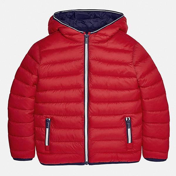 Куртка для мальчика MayoralВерхняя одежда<br>Характеристики товара:<br><br>• цвет: красный;<br>• сезон: демисезон;<br>• температурный режим: от 0 до +10С;<br>• состав ткани: 100% полиамид;<br>• состав подкладки: 100% полиамид;<br>• состав наполнителя: 100% полиэстер;<br>• стеганая;<br>• на молнии;<br>• капюшон: без меха, не отстегивается;<br>• страна бренда: Испания;<br>• страна изготовитель: Бангладеш.<br><br>Демисезонная куртка для мальчика от популярного бренда Mayoral несомненно понравится вам и вашему ребенку. Качественные ткани, безупречное исполнение, все модели в центре модных тенденций. Внешняя ткань и подкладка плащевая, обуспечивают хорошую защиту от ветра и непогоды, внутренний утеплитель, аккуратные швы. Рукава на внутренней манжете. Застегивается на замок-молнию, капюшон не отстегивается, боковые карманы на молнии. <br><br>Легкая и теплая куртка с капюшоном и карманами на холодную осень-весну. Грамотный крой изделия обеспечивает отличную посадку по фигуре.<br><br>Куртку  для мальчика Mayoral (Майорал) можно купить в нашем интернет-магазине.<br><br>Ширина мм: 356<br>Глубина мм: 10<br>Высота мм: 245<br>Вес г: 519<br>Цвет: бежевый<br>Возраст от месяцев: 96<br>Возраст до месяцев: 108<br>Пол: Мужской<br>Возраст: Детский<br>Размер: 128/134,170,164,158,152,140<br>SKU: 6938838