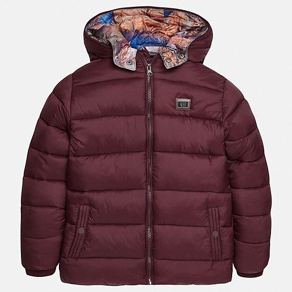 Куртка для мальчика MayoralВерхняя одежда<br>Характеристики товара:<br><br>• цвет:коричневый;<br>• сезон: демисезон;<br>• температурный режим: от 0 до +10С;<br>• состав ткани: 100% полиамид;<br>• состав подкладки и наполнителя: 100% полиэстер;<br>• на молнии;<br>• капюшон:  отстегивается, без меха;<br>• страна бренда: Испания;<br>• страна изготовитель: Китай.<br><br>Утепленная демисезонная куртка для мальчика с двойным капюшоном от популярного бренда Mayoral несомненно понравится вам и вашему ребенку. Качественные ткани, безупречное исполнение, все модели в центре модных тенденций. <br><br>Стеганная модель коричнего цвета выполнена из мягкой плащевой  ткани и внутренней плащевой подкладки, обеспечивающие хорошую воздухопроницаемую защиту,  рукава и пояс на внутренних трикотажных манжетах. Застегивается на молнию, дополнена боковыми врезными карманами. Двойной капюшон: внешний плащевый и внутренний  трикотажный с принтом, съемный (на молнии), с фиксацией на кнопки.   Декорирована  нашивкой-логотипом на на груди.<br><br>Легкая и теплая куртка с капюшоном и карманами на холодную осень-весну. Грамотный крой изделия обеспечивает отличную посадку по фигуре. Все эти преимущества делают данную модель незаменимой для активных прогулок и повседневной носки.<br><br>Утепленная демисезонная куртка для мальчика Mayoral (Майорал) можно купить в нашем интернет-магазине.<br><br>Ширина мм: 356<br>Глубина мм: 10<br>Высота мм: 245<br>Вес г: 519<br>Цвет: коричневый<br>Возраст от месяцев: 96<br>Возраст до месяцев: 108<br>Пол: Мужской<br>Возраст: Детский<br>Размер: 128/134,170,164,158,152,140<br>SKU: 6938852