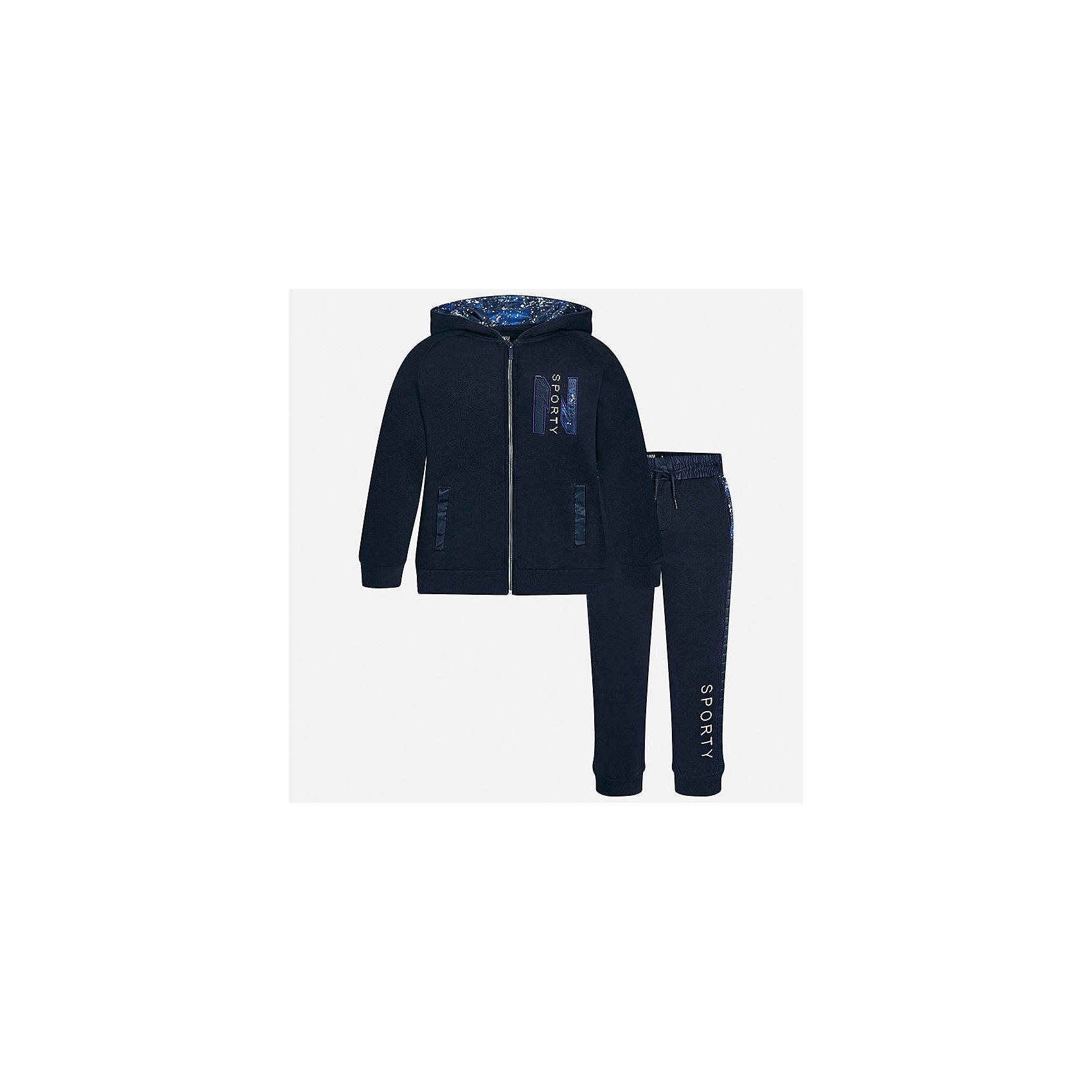 Спортивный костюм для мальчика MayoralСпортивная форма<br>Характеристики товара:<br><br>• цвет: серый<br>• комплектация: курточка и брюки<br>• состав ткани курточки: 60% хлопок, 40% полиэстер<br>• состав ткани брюк: 60% хлопок, 40% полиэстер<br>• длинные рукава<br>• застежка: молния<br>• пояс: резинка и шнурок<br>• особенности модели: спортивный стиль<br>• сезон: демисезон<br>• страна бренда: Испания<br>• страна изготовитель: Индия<br><br>Трикотажный спортивный костюм - отличный вариант одежды для отдыха и занятий спортом. Курточка из спортивного комплекта дополнена капюшоном и карманами. Удобный детский спортивный костюм от известного бренда Майорал выглядит аккуратно и стильно. <br><br>Спортивный костюм для мальчика Mayoral (Майорал) можно купить в нашем интернет-магазине.<br><br>Ширина мм: 247<br>Глубина мм: 16<br>Высота мм: 140<br>Вес г: 225<br>Цвет: серый<br>Возраст от месяцев: 168<br>Возраст до месяцев: 180<br>Пол: Мужской<br>Возраст: Детский<br>Размер: 170,128/134,140,152,158,164<br>SKU: 6938999