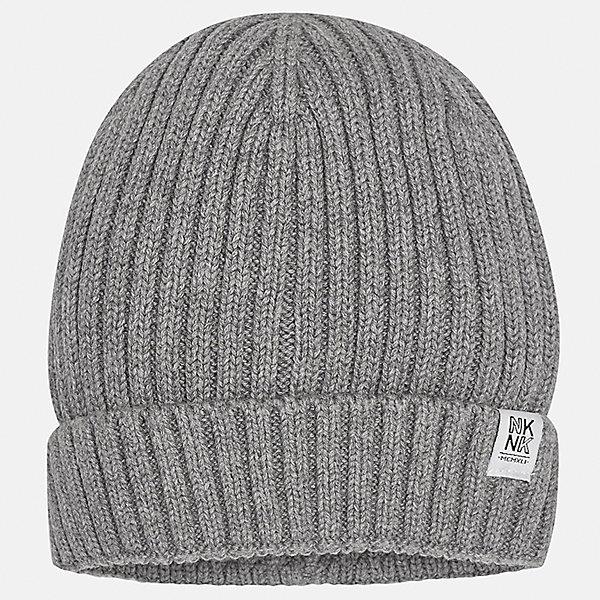 Шапка для мальчика MayoralДемисезонные<br>Характеристики товара:<br><br>• цвет: серый<br>• состав ткани: 100% хлопок<br>• сезон: демисезон<br>• комплектация: шапка, шарф<br>• страна бренда: Испания<br>• страна изготовитель: Индия<br><br>Такая стильная шапка поможет обеспечить ребенку тепло и комфорт. Детская демисезонная шапка от бренда Майорал смотрится модно и оригинально. Шапка для ребенка от испанской компании Mayoral отличаются оригинальным и стильным дизайном. Качество продукции неизменно очень высокое.<br><br>Шапку для мальчика Mayoral (Майорал) можно купить в нашем интернет-магазине.<br><br>Ширина мм: 89<br>Глубина мм: 117<br>Высота мм: 44<br>Вес г: 155<br>Цвет: серый<br>Возраст от месяцев: 96<br>Возраст до месяцев: 120<br>Пол: Мужской<br>Возраст: Детский<br>Размер: 56,52,54<br>SKU: 6939374