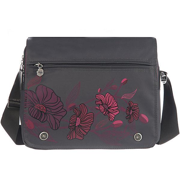 Сумка школьная Grizzly, темно-серыйШкольные сумки<br>Молодежная сумка, два отделения, клапан на магнитных кнопках с карманом на молнии, пенал для карандашей на передней стенке, передний карман, плоский передний карман на молнии, задний карман на молнии, внутренний карман на молнии, регулируемый плечевой ремень<br>Ширина мм: 330; Глубина мм: 140; Высота мм: 280; Вес г: 651; Возраст от месяцев: 120; Возраст до месяцев: 2147483647; Пол: Мужской; Возраст: Детский; SKU: 6939814;