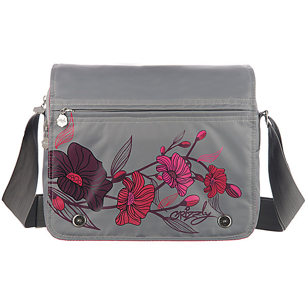 Сумка школьная Grizzly, светло-серыйШкольные сумки<br>Молодежная сумка, два отделения, клапан на магнитных кнопках с карманом на молнии, пенал для карандашей на передней стенке, передний карман, плоский передний карман на молнии, задний карман на молнии, внутренний карман на молнии, регулируемый плечевой ремень<br><br>Ширина мм: 330<br>Глубина мм: 140<br>Высота мм: 280<br>Вес г: 651<br>Возраст от месяцев: 120<br>Возраст до месяцев: 2147483647<br>Пол: Женский<br>Возраст: Детский<br>SKU: 6939815