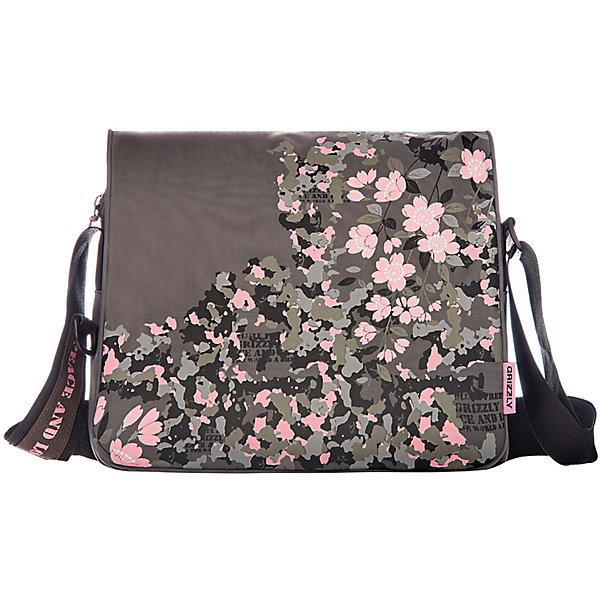 Сумка школьная Grizzly, хакиШкольные сумки<br>Молодежная сумка, два отделения, клапан на липучках, передний карман, плоский передний карман на молнии, внутренний карман на молнии, регулируемый плечевой ремень<br><br>Ширина мм: 335<br>Глубина мм: 120<br>Высота мм: 280<br>Вес г: 555<br>Возраст от месяцев: 120<br>Возраст до месяцев: 2147483647<br>Пол: Женский<br>Возраст: Детский<br>SKU: 6939816