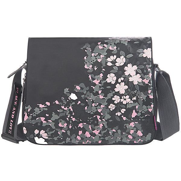 Сумка школьная Grizzly, чернаяШкольные сумки<br>Молодежная сумка, два отделения, клапан на липучках, передний карман, плоский передний карман на молнии, внутренний карман на молнии, регулируемый плечевой ремень<br><br>Ширина мм: 335<br>Глубина мм: 120<br>Высота мм: 280<br>Вес г: 555<br>Возраст от месяцев: 120<br>Возраст до месяцев: 2147483647<br>Пол: Женский<br>Возраст: Детский<br>SKU: 6939817