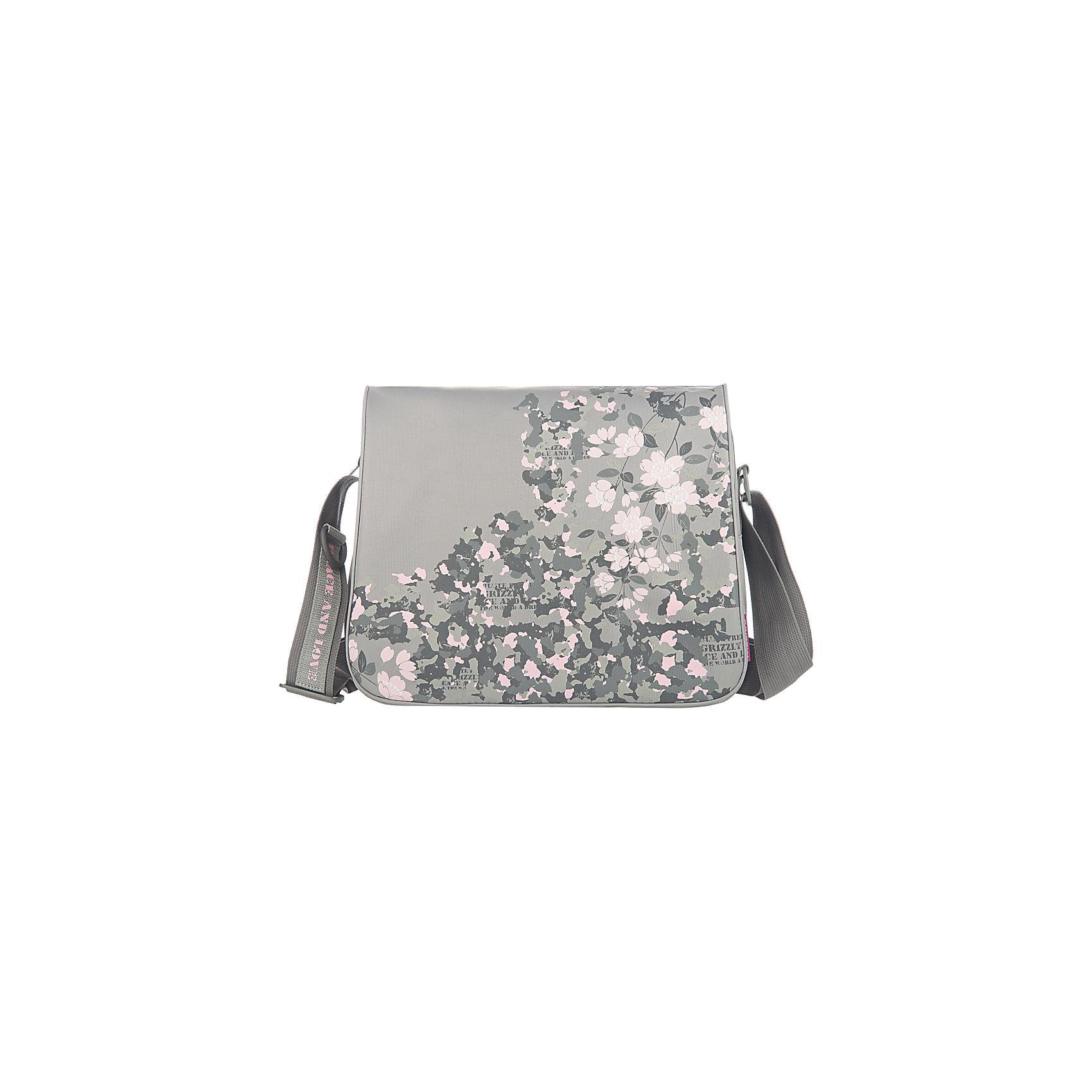 Сумка школьная Grizzly, сераяШкольные сумки<br>Молодежная сумка, два отделения, клапан на липучках, передний карман, плоский передний карман на молнии, внутренний карман на молнии, регулируемый плечевой ремень<br><br>Ширина мм: 335<br>Глубина мм: 120<br>Высота мм: 280<br>Вес г: 555<br>Возраст от месяцев: 120<br>Возраст до месяцев: 2147483647<br>Пол: Женский<br>Возраст: Детский<br>SKU: 6939818
