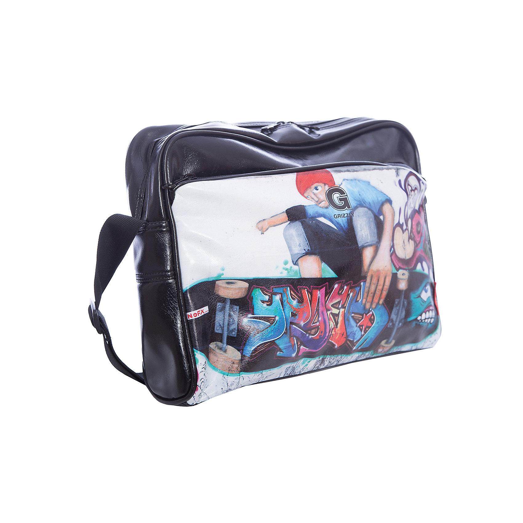 Сумка школьная Grizzly, скейтбордШкольные сумки<br>Молодежная сумка, одно отделение, плоский передний карман на молнии, задний карман на молнии, внутренний карман на молнии, регулируемый плечевой ремень<br><br>Ширина мм: 390<br>Глубина мм: 90<br>Высота мм: 290<br>Вес г: 450<br>Возраст от месяцев: 120<br>Возраст до месяцев: 2147483647<br>Пол: Мужской<br>Возраст: Детский<br>SKU: 6939823