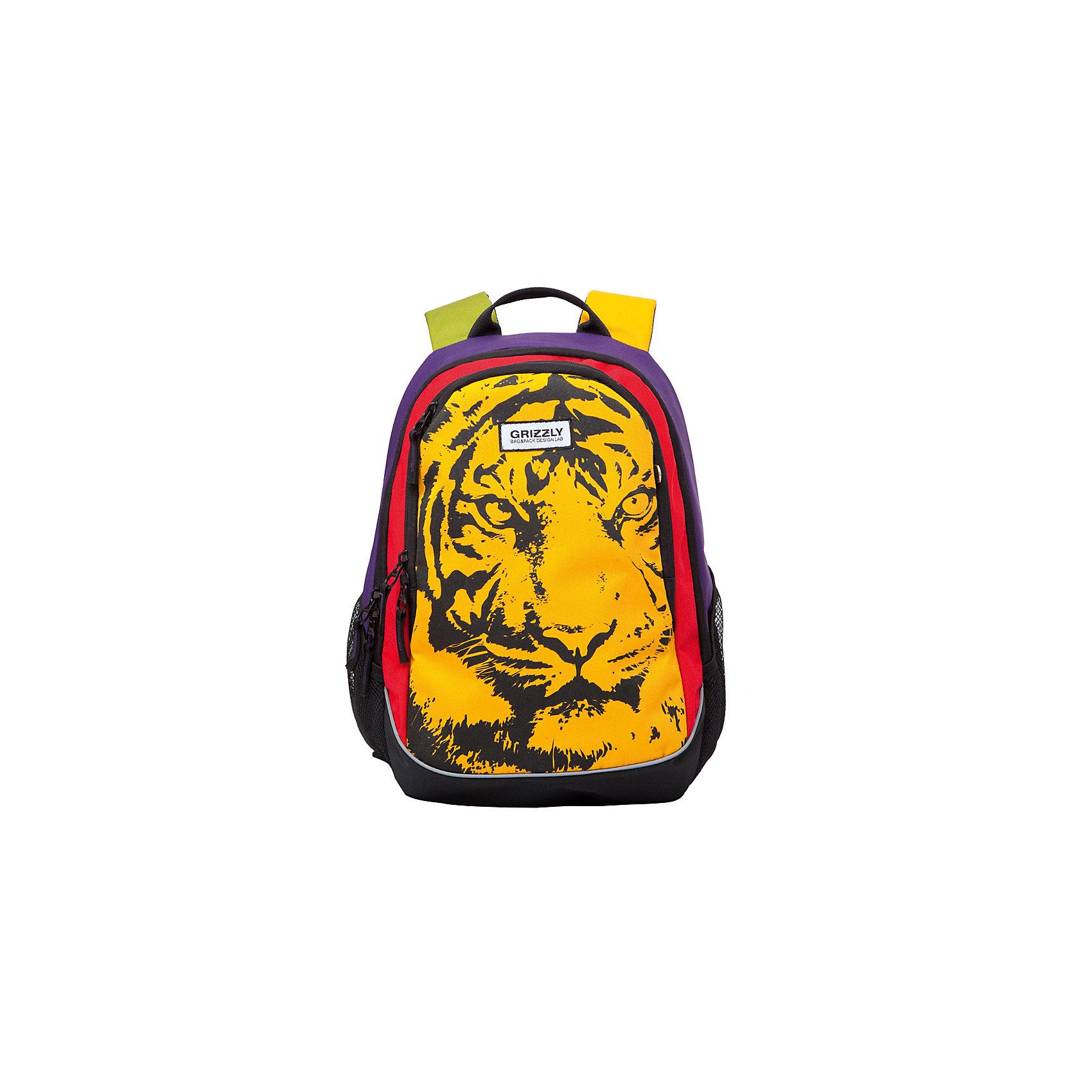 Рюкзак Grizzly, тигрРюкзаки<br>Рюкзак молодежный, два отделения, карман на молнии на передней стенке, боковые карманы из сетки, внутренний карман на молнии, внутренний карман-пенал для карандашей, внутренний подвесной карман на молнии, жесткая анатомическая спинка, дополнительная ручка-петля, укрепленные лямки<br><br>Ширина мм: 290<br>Глубина мм: 200<br>Высота мм: 400<br>Вес г: 690<br>Возраст от месяцев: 72<br>Возраст до месяцев: 2147483647<br>Пол: Женский<br>Возраст: Детский<br>SKU: 6939851