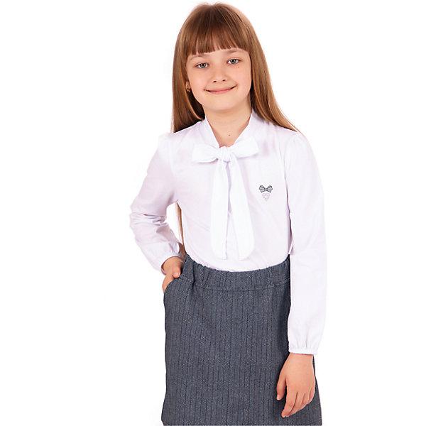 Блузка для девочки АпрельБлузки и рубашки<br>Характеристики товара:<br><br>• цвет: белый<br>• состав ткани: хлопок 92%, лайкра 8%<br>• особенности: школьная, нарядная<br>• длинные рукава<br>• воротник с бантом<br>• сезон: круглый год<br>• страна бренда: Россия<br>• страна изготовитель: Россия<br><br>Белая нарядная блузка с длинным рукавом для девочки Апрель поможет украсить любой наряд. Школьная одежда от компании Апрель - это удобно и красиво.<br><br>Школьная блузка украшена бантом и вышивкой. Это - отличный вариант удобной и стильной школьной одежды. <br><br>Блузку для девочки Апрель можно купить в нашем интернет-магазине.<br>Ширина мм: 186; Глубина мм: 87; Высота мм: 198; Вес г: 197; Цвет: белый; Возраст от месяцев: 60; Возраст до месяцев: 72; Пол: Женский; Возраст: Детский; Размер: 116,146,140,134,128,122; SKU: 6942158;