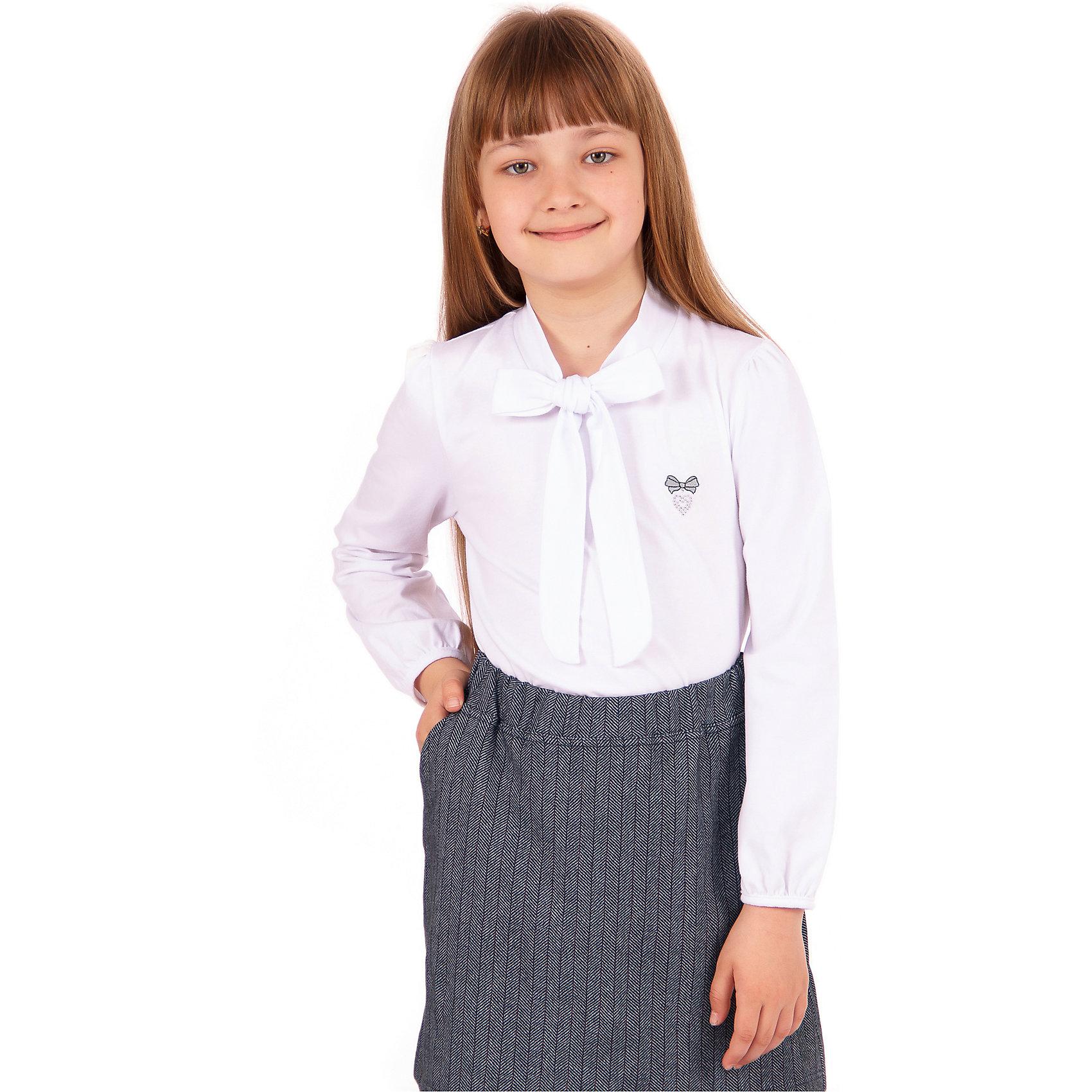 Блузка для девочки АпрельБлузки и рубашки<br>Характеристики товара:<br><br>• цвет: белый<br>• состав ткани: хлопок 92%, лайкра 8%<br>• особенности: школьная, нарядная<br>• длинные рукава<br>• воротник с бантом<br>• сезон: круглый год<br>• страна бренда: Россия<br>• страна изготовитель: Россия<br><br>Белая нарядная блузка с длинным рукавом для девочки Апрель поможет украсить любой наряд. Школьная одежда от компании Апрель - это удобно и красиво.<br><br>Школьная блузка украшена бантом и вышивкой. Это - отличный вариант удобной и стильной школьной одежды. <br><br>Блузку для девочки Апрель можно купить в нашем интернет-магазине.<br><br>Ширина мм: 186<br>Глубина мм: 87<br>Высота мм: 198<br>Вес г: 197<br>Цвет: белый<br>Возраст от месяцев: 120<br>Возраст до месяцев: 132<br>Пол: Женский<br>Возраст: Детский<br>Размер: 146,116,122,128,134,140<br>SKU: 6942158