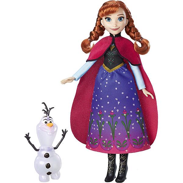 Модные куклы Анна или Эльза с другом, Северное сияние, HasbroХолодное сердце<br>Характеристики товара:<br><br>• возраст: от 3 лет;<br>• материал: пластик, текстиль;<br>• в комплекте: кукла, снеговик;<br>• высота куклы: 28 см;<br>• размер упаковки: 32,4х18,4х5,1 см;<br>• вес упаковки: 189 гр.;<br>• страна производитель: Китай.<br><br>Модная кукла «Анна с другом. Северное сияние» Hasbro — героиня известного мультфильма Дисней «Холодное сердце» принцесса Анна. У Анны красивые голубые глаза и рыжие волосы, заплетенные в косички. Она одета в свой любимый сарафан с голубой юбкой, красную накидку и сапожки. Вместе с Анной ее верный друг — забавный снеговичок Олаф.<br><br>Модную куклу «Анна с другом. Северное сияние» Hasbro можно приобрести в нашем интернет-магазине.<br><br>Ширина мм: 51<br>Глубина мм: 184<br>Высота мм: 324<br>Вес г: 189<br>Возраст от месяцев: 36<br>Возраст до месяцев: 2147483647<br>Пол: Женский<br>Возраст: Детский<br>SKU: 6943657