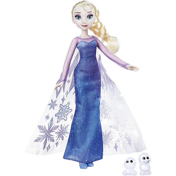 Модные куклы Анна или Эльза с другом, Северное сияние, HasbroХолодное Сердце Игрушки и пазлы<br>Характеристики товара:<br><br>• возраст: от 3 лет;<br>• материал: пластик, текстиль;<br>• в комплекте: кукла, 2 снеговика;<br>• высота куклы: 28 см;<br>• размер упаковки: 32,4х18,4х5,1 см;<br>• вес упаковки: 189 гр.;<br>• страна производитель: Китай.<br><br>Модная кукла «Эльза с другом. Северное сияние» Hasbro — героиня известного мультфильма Дисней «Холодное сердце» принцесса Эльза. У Эльзы светлые волосы и красивые голубые глаза. Она одета в голубое платье Снежной королевы с блестками. Вместе с Эльзой 2 забавных снеговика.<br><br>Модную куклу «Эльза с другом. Северное сияние» Hasbro можно приобрести в нашем интернет-магазине.<br>Ширина мм: 51; Глубина мм: 184; Высота мм: 324; Вес г: 189; Возраст от месяцев: 36; Возраст до месяцев: 2147483647; Пол: Женский; Возраст: Детский; SKU: 6943658;