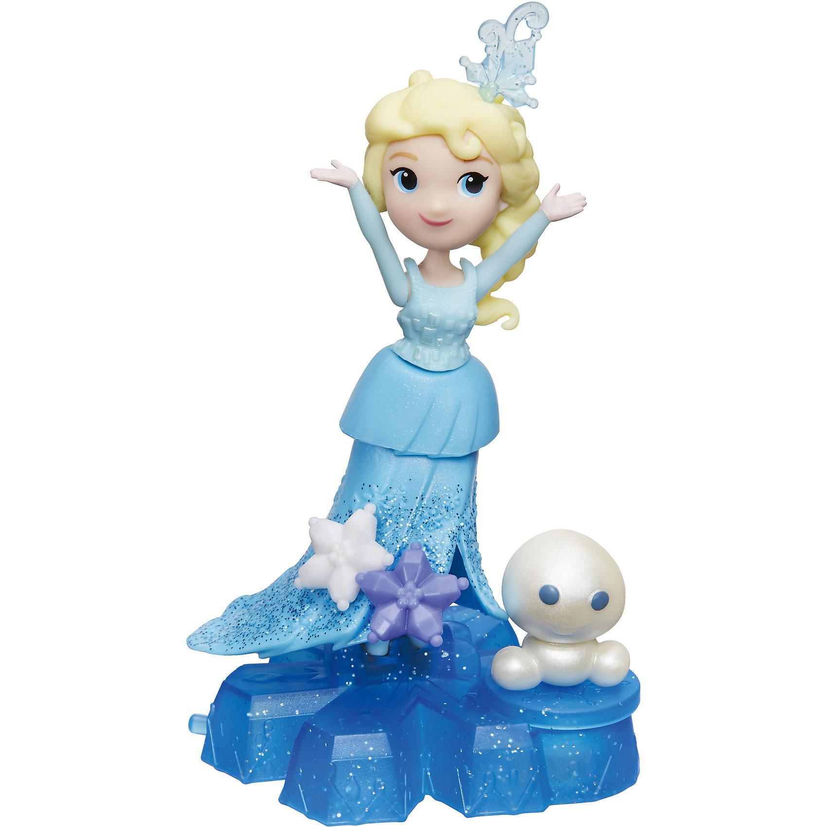 Маленькая кукла Холодное Сердце, HasbroМини-куклы<br>Характеристики товара:<br><br>• возраст: от 4 лет;<br>• материал: пластик;<br>• в комплекте: кукла, аксессуары;<br>• высота кукла: 7,5 см;<br>• размер упаковки: 17,8х15,2х4,4 см;<br>• вес упаковки: 92 гр.;<br>• страна производитель: Китай.<br><br>Маленькая кукла «Холодное сердце» Hasbro представляет собой героиню известного мультфильма Дисней принцессу Эльзу. Куколка стоит на необычной платформе-снежинке. Пока снежинка движется по поверхности, снеговички на снежинке вращаются. <br><br>Маленькую куклу «Холодное сердце» Hasbro можно приобрести в нашем интернет-магазине.<br><br>Ширина мм: 44<br>Глубина мм: 178<br>Высота мм: 178<br>Вес г: 92<br>Возраст от месяцев: 48<br>Возраст до месяцев: 2147483647<br>Пол: Женский<br>Возраст: Детский<br>SKU: 6943662