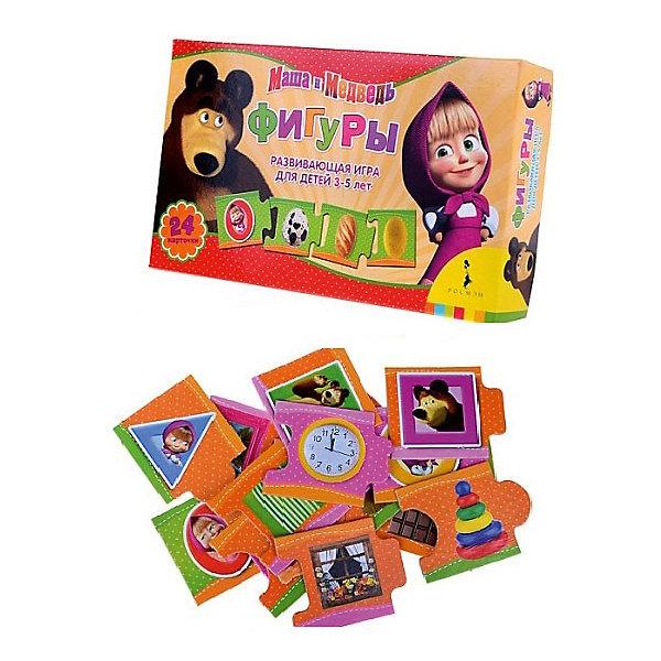 Развивающая настольная игры Фигуры Маша и МедведьОбучающие карточки<br>Характеристики:<br><br>• возраст: от 3 лет<br>• в комплекте: 24 карточки-пазла<br>• материал: картон<br>• упаковка: картонная коробка<br>• размер упаковки: 12х3,7х20 см.<br>• вес: 129 гр.<br>• ISBN: 4630008797310<br><br>Развивающая игра «Фигуры» знакомит ребенка с основными геометрическими фигурами. Малыш узнает, как выглядит квадрат, круг, треугольник, овал, прямоугольник, трапеция, и научится определять форму окружающих его предметов.<br><br>В комплект игры входит 24 карточки с изображениями предметов разной формы. Карточки легко соединяются друг с другом с помощью пазлового замка. Задача ребенка соединить в одну линию карточки с предметами определенной формы.<br><br>Игра развивает мелкую моторику, логическое и образное мышление.<br><br>Игру «Фигуры», Маша и Медведь можно купить в нашем интернет-магазине.<br>Ширина мм: 120; Глубина мм: 37; Высота мм: 200; Вес г: 129; Возраст от месяцев: 36; Возраст до месяцев: 2147483647; Пол: Унисекс; Возраст: Детский; SKU: 6944494;