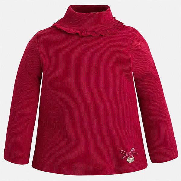 Водолазка для девочки MayoralВодолазки<br>Характеристики товара:<br><br>• цвет: красный<br>• состав ткани: 95% хлопок, 5% эластан<br>• сезон: демисезон<br>• особенности модели: рюша на воротнике<br>• высокий ворот<br>• длинные рукава<br>• страна бренда: Испания<br>• страна изготовитель: Индия<br><br>Нарядная водолазка для девочки от бренда Mayoral создана специально для детей. Стильная детская водолазка с длинным рукавом сделана из дышащей эластичной ткани. Детская водолазка комфортно сидит и аккуратно смотрится. Красная водолазка поможет сделать наряд оригинальным. <br><br>Водолазку для девочки Mayoral (Майорал) можно купить в нашем интернет-магазине.<br>Ширина мм: 230; Глубина мм: 40; Высота мм: 220; Вес г: 250; Цвет: красный; Возраст от месяцев: 24; Возраст до месяцев: 36; Пол: Женский; Возраст: Детский; Размер: 98,134,128,122,116,110,104; SKU: 6944552;