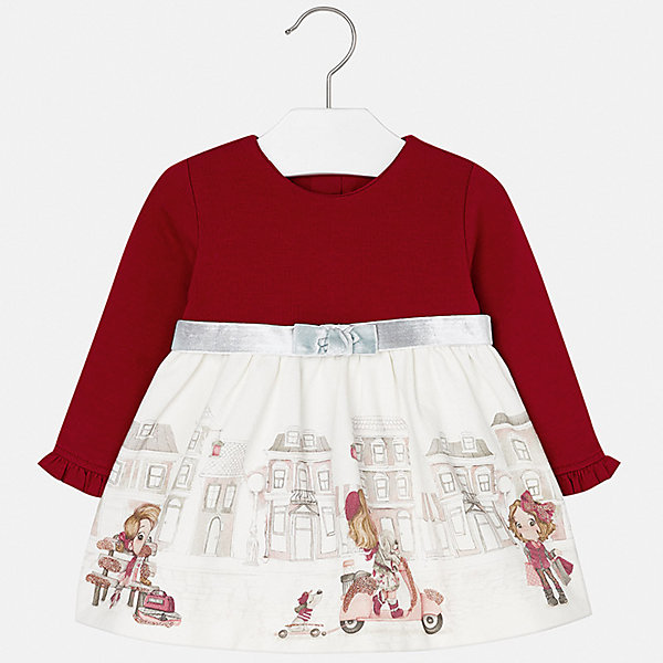Платье для девочки MayoralОсенне-зимние платья и сарафаны<br>Характеристики товара:<br><br>• цвет: белый/красный<br>• состав ткани верха: 95% хлопок, 5% эластан<br>• подкладка: 100% полиэстер<br>• сезон: демисезон<br>• особенности модели: нарядная<br>• застежка: молния<br>• длинные рукава<br>• страна бренда: Испания<br>• страна изготовитель: Индия<br><br>Такое платье для девочки от Майорал поможет обеспечить ребенку удобство и аккуратный внешний вид. Детское платье отличается модным и продуманным дизайном. В платье с длинным рукавом для девочки от испанской компании Майорал ребенок будет выглядеть модно, а чувствовать себя - комфортно. <br><br>Платье для девочки Mayoral (Майорал) можно купить в нашем интернет-магазине.<br><br>Ширина мм: 236<br>Глубина мм: 16<br>Высота мм: 184<br>Вес г: 177<br>Цвет: красный/белый<br>Возраст от месяцев: 12<br>Возраст до месяцев: 18<br>Пол: Женский<br>Возраст: Детский<br>Размер: 86,98,92,80,74<br>SKU: 6944727