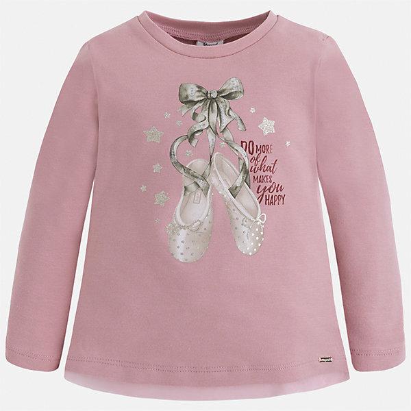 Футболка с длинным рукавом для девочки MayoralФутболки с длинным рукавом<br>Характеристики товара:<br><br>• цвет: розовый<br>• состав ткани: 95% хлопок, 5% эластан<br>• сезон: демисезон<br>• особенности модели: принт с блестками<br>• длинные рукава<br>• страна бренда: Испания<br>• страна изготовитель: Индия<br><br>Розовая водолазка с длинным рукавом для девочки от Майорал поможет обеспечить ребенку комфорт. Детская водолазка с длинным рукавом отличается стильным и продуманным дизайном. В водолазке с длинным рукавом для девочки от испанской компании Майорал ребенок будет выглядеть модно, и чувствовать себя комфортно. <br><br>Водолазку для девочки Mayoral (Майорал) можно купить в нашем интернет-магазине.<br>Ширина мм: 230; Глубина мм: 40; Высота мм: 220; Вес г: 250; Цвет: розовый; Возраст от месяцев: 24; Возраст до месяцев: 36; Пол: Женский; Возраст: Детский; Размер: 98,134,128,122,116,110,104,92; SKU: 6944857;