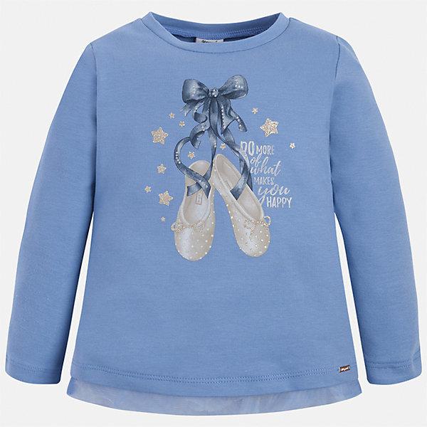 Футболка с длинным рукавом для девочки MayoralФутболки с длинным рукавом<br>Характеристики товара:<br><br>• цвет: голубой<br>• состав ткани: 95% хлопок, 5% эластан<br>• сезон: демисезон<br>• особенности модели: принт с блестками<br>• длинные рукава<br>• страна бренда: Испания<br>• страна изготовитель: Индия<br><br>Сиреневая водолазка с принтом для девочки Mayoral удобно сидит по фигуре. Стильная детская водолазка с длинным рукавом сделана из дышащей ткани. Отличный способ обеспечить ребенку тепло и комфорт - надеть детскую водолазку с длинным рукавом от Mayoral. Детская водолазка с длинным рукавом сшита из приятного на ощупь материала. <br><br>Водолазку для девочки Mayoral (Майорал) можно купить в нашем интернет-магазине.<br>Ширина мм: 230; Глубина мм: 40; Высота мм: 220; Вес г: 250; Цвет: голубой; Возраст от месяцев: 72; Возраст до месяцев: 84; Пол: Женский; Возраст: Детский; Размер: 122,116,110,104,98,92,134,128; SKU: 6944875;