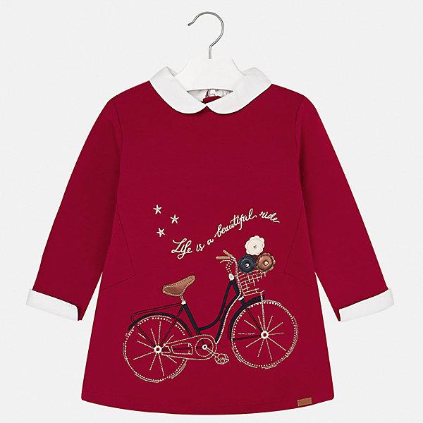 Платье для девочки MayoralОсенне-зимние платья и сарафаны<br>Характеристики товара:<br><br>• цвет: красный<br>• состав ткани: 67% хлопок, 28% полиэстер, 5% эластан<br>• сезон: демисезон<br>• особенности модели: принт с блестками<br>• застежка: молния<br>• длинные рукава<br>• страна бренда: Испания<br>• страна изготовитель: Индия<br><br>Яркое платье для девочки от Майорал поможет обеспечить ребенку удобство и аккуратный внешний вид. Детское платье отличается модным и продуманным дизайном. В платье с длинным рукавом для девочки от испанской компании Майорал ребенок будет выглядеть модно, а чувствовать себя - комфортно. <br><br>Платье для девочки Mayoral (Майорал) можно купить в нашем интернет-магазине.<br><br>Ширина мм: 236<br>Глубина мм: 16<br>Высота мм: 184<br>Вес г: 177<br>Цвет: красный<br>Возраст от месяцев: 72<br>Возраст до месяцев: 84<br>Пол: Женский<br>Возраст: Детский<br>Размер: 122,116,128,134,92,98,104,110<br>SKU: 6945153