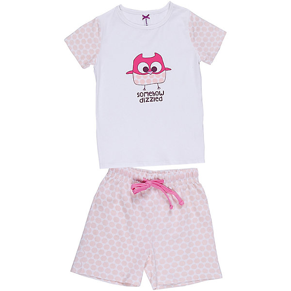 Комплект: футболка и шорты для девочки Sweet BerryПижамы и сорочки<br>Пижама для девочки с футболкой и шортами.<br>Состав:<br>95% хлопок, 5% эластан<br>Ширина мм: 196; Глубина мм: 10; Высота мм: 154; Вес г: 152; Цвет: белый; Возраст от месяцев: 48; Возраст до месяцев: 60; Пол: Женский; Возраст: Детский; Размер: 110,104,98,140,134,128,122,116; SKU: 6945421;