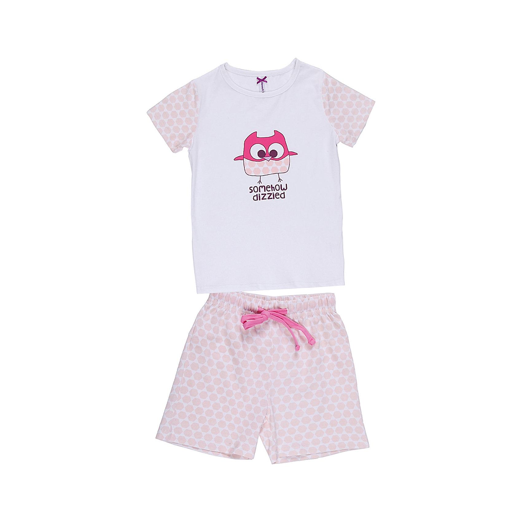 Комплект: футболка и шорты для девочки Sweet BerryПижамы и сорочки<br>Пижама для девочки с футболкой и шортами.<br>Состав:<br>95% хлопок, 5% эластан<br><br>Ширина мм: 196<br>Глубина мм: 10<br>Высота мм: 154<br>Вес г: 152<br>Цвет: белый<br>Возраст от месяцев: 36<br>Возраст до месяцев: 48<br>Пол: Женский<br>Возраст: Детский<br>Размер: 104,110,116,122,128,134,140,98<br>SKU: 6945421