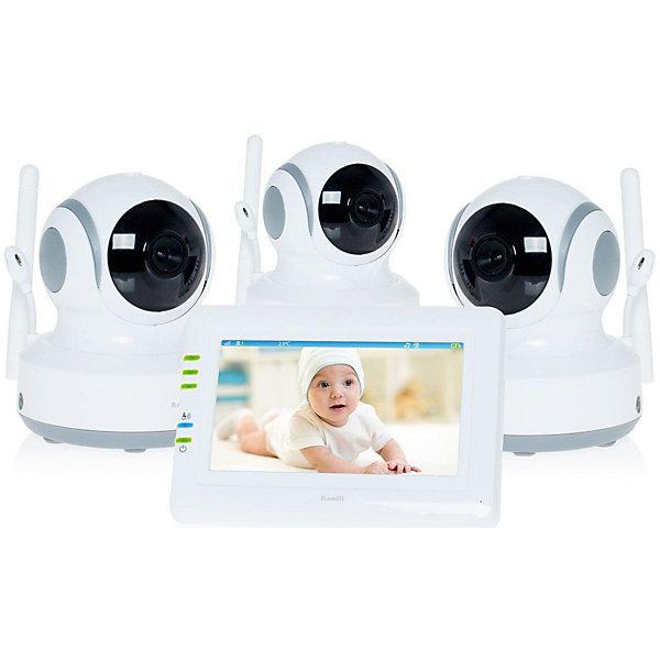 Видеоняня Ramili Baby RV900X3Видеоняни<br>Три камеры в комплекте. Дальность до 300 метров. Дисплей 11 см (4,3 дюйма). Двухсторонняя связь. Удаленное управление поворотом. Активация при плаче (VOX). Непрерывный мониторинг. Детектор движения. Автоматический поворот камеры за передвижением ребенка. Сенсорный экран. Ночное видение. Система защиты от помех. Система преодоления преград. Защищенная связь (100% приватность). Цифровой зум. Колыбельные мелодии. Таймер кормления. Термометр. Подключение до 4 камер. Аккумулятор в родительском блоке. Оповещение о низком заряде. Оповещение о выходе из зоны приёма. Возможно крепление на стене любого блока.<br>Ширина мм: 250; Глубина мм: 200; Высота мм: 70; Вес г: 2000; Возраст от месяцев: 0; Возраст до месяцев: 24; Пол: Унисекс; Возраст: Детский; SKU: 6954564;