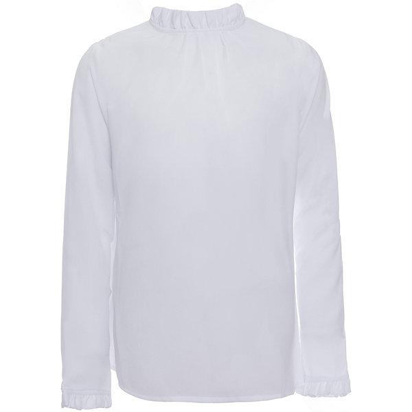 Блузка для девочки OrbyБлузки и рубашки<br>Характеристики товара:<br><br>• цвет: белый<br>• состав ткани:40% вискоза, 60% ПЭ<br>• особенности: школьная, праздничная<br>• длинные рукава<br>• застежка: пуговицы<br>• рюши на воротнике и рукавах<br>• сезон: круглый год<br>• страна бренда: Россия<br>• страна изготовитель: Россия<br><br>Белая блузка для девочки Orby - базовая вещь гардероба. Такая блузка - отличный вариант практичной и стильной школьной одежды. <br><br>Школьная блузка из белого легкого материала поможет ребенку выглядеть стильно и соответствовать школьному дресс-коду.<br><br>Блузку для девочки Orby (Орби) можно купить в нашем интернет-магазине.<br><br>Ширина мм: 186<br>Глубина мм: 87<br>Высота мм: 198<br>Вес г: 197<br>Цвет: белый<br>Возраст от месяцев: 156<br>Возраст до месяцев: 168<br>Пол: Женский<br>Возраст: Детский<br>Размер: 164,122,140,158,152,146,134,128,170<br>SKU: 6960258