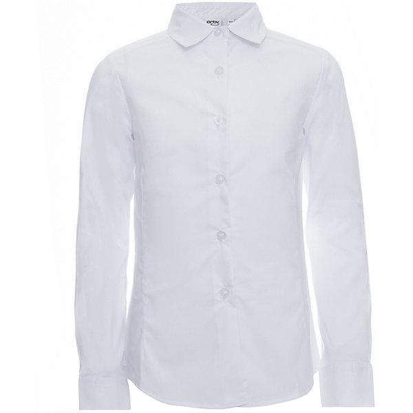 Блузка для девочки OrbyБлузки и рубашки<br>Характеристики товара:<br><br>• цвет: белый<br>• состав ткани: 66% ПЭ, 30% хлопок, 4%эластан<br>• особенности: школьная, праздничная<br>• длинные рукава<br>• застежка: пуговицы<br>• приталенный силуэт<br>• отложной воротник<br>• сезон: круглый год<br>• страна бренда: Россия<br>• страна изготовитель: Россия<br><br>Белая приталенная блузка для девочки Orby - базовая вещь гардероба. Такая блузка - отличный вариант практичной и стильной школьной одежды. <br><br>Белая школьная блузка поможет ребенку выглядеть стильно и соответствовать школьному дресс-коду.<br><br>Блузку для девочки Orby (Орби) можно купить в нашем интернет-магазине.<br><br>Ширина мм: 186<br>Глубина мм: 87<br>Высота мм: 198<br>Вес г: 197<br>Цвет: белый<br>Возраст от месяцев: 96<br>Возраст до месяцев: 108<br>Пол: Женский<br>Возраст: Детский<br>Размер: 134,128,122,170,164,158,152,146,140<br>SKU: 6960278