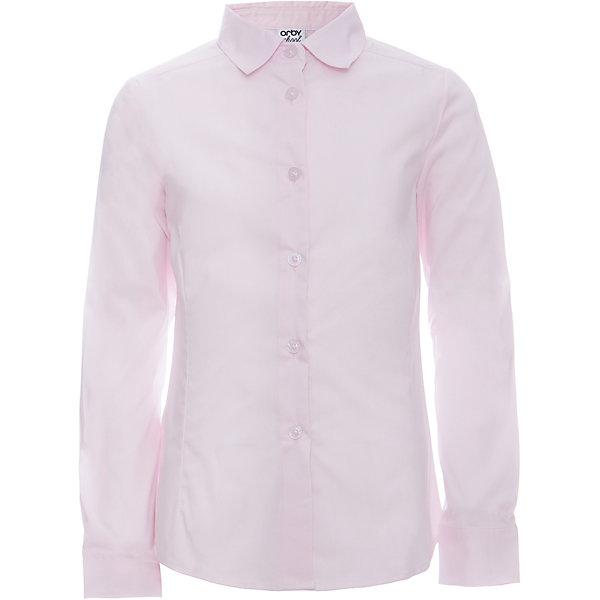Блузка для девочки OrbyБлузки и рубашки<br>Характеристики товара:<br><br>• цвет: розовый<br>• состав ткани: 66% ПЭ, 30% хлопок, 4%эластан<br>• особенности: школьная, праздничная<br>• длинные рукава<br>• застежка: пуговицы<br>• приталенный силуэт<br>• отложной воротник<br>• сезон: круглый год<br>• страна бренда: Россия<br>• страна изготовитель: Россия<br><br>Розовая блузка для девочки Orby - отличный способ разнообразить гардероб. Такая блузка хорошо дополнит школьную форму. <br><br>Приталенная школьная блузка поможет ребенку выглядеть стильно и чувствовать себя комфортно.<br><br>Блузку для девочки Orby (Орби) можно купить в нашем интернет-магазине.<br><br>Ширина мм: 186<br>Глубина мм: 87<br>Высота мм: 198<br>Вес г: 197<br>Цвет: розовый<br>Возраст от месяцев: 72<br>Возраст до месяцев: 84<br>Пол: Женский<br>Возраст: Детский<br>Размер: 122,164,158,152,146,140,134,128<br>SKU: 6960288