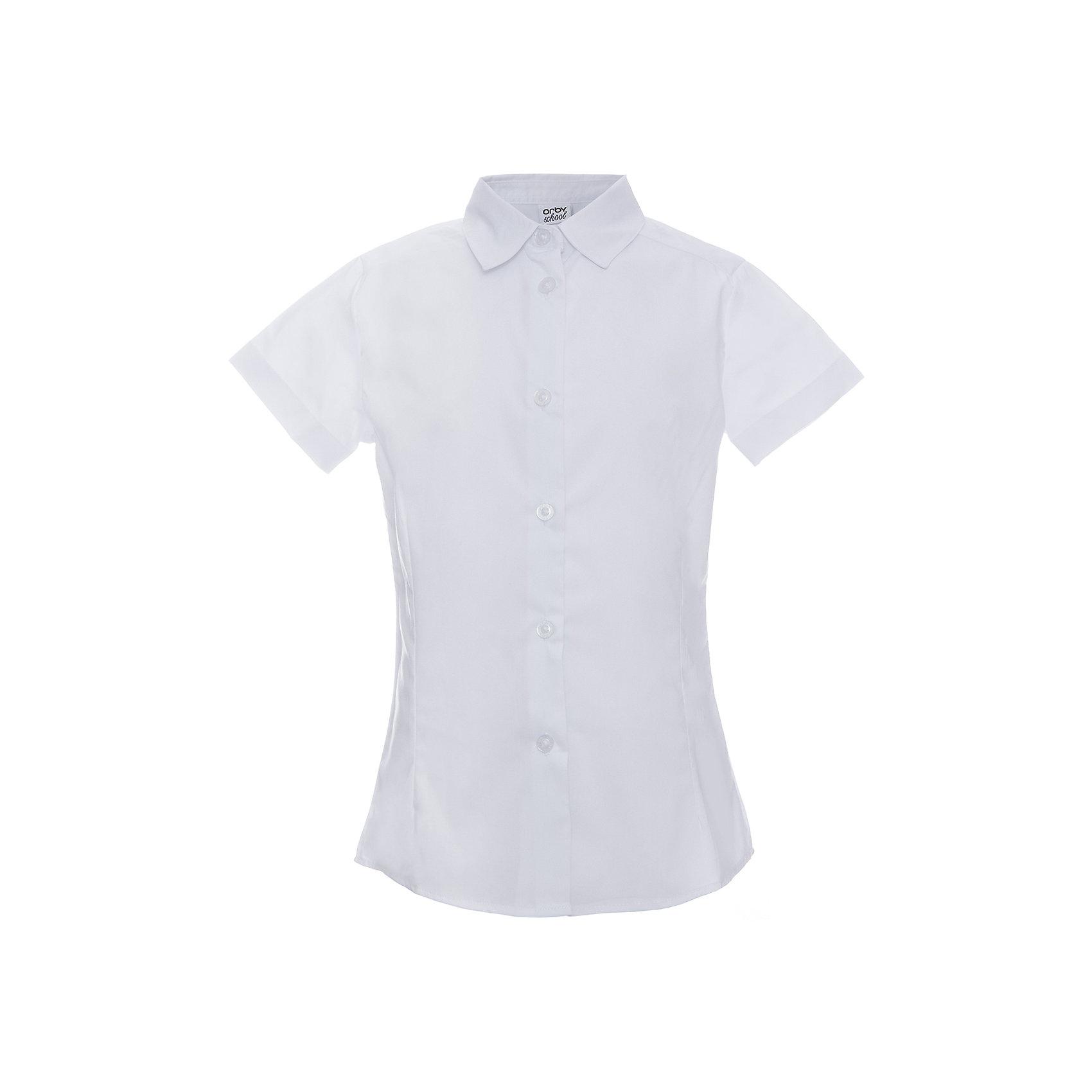 Блузка для девочки OrbyБлузки и рубашки<br>Характеристики товара:<br><br>• цвет: белый<br>• состав ткани: 66% ПЭ, 30% хлопок, 4%эластан<br>• особенности: школьная, праздничная<br>• короткие рукава<br>• застежка: пуговицы<br>• отложной воротник<br>• сезон: круглый год<br>• страна бренда: Россия<br>• страна изготовитель: Россия<br><br>Белая блузка для девочки Orby - базовая вещь гардероба. Такая блузка - отличный вариант практичной и стильной школьной одежды. <br><br>Белая школьная блузка с короткими рукавами поможет ребенку выглядеть стильно и соответствовать школьному дресс-коду.<br><br>Блузку для девочки Orby (Орби) можно купить в нашем интернет-магазине.<br><br>Ширина мм: 186<br>Глубина мм: 87<br>Высота мм: 198<br>Вес г: 197<br>Цвет: белый<br>Возраст от месяцев: 72<br>Возраст до месяцев: 84<br>Пол: Женский<br>Возраст: Детский<br>Размер: 146,140,134,128,122,170,164,158,152<br>SKU: 6960297