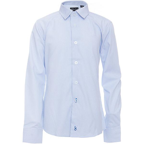 Рубашка для мальчика OrbyБлузки и рубашки<br>Характеристики товара:<br><br>• цвет: голубой<br>• состав ткани: 40% хлопок, 60% ПЭ<br>• особенности: школьная, праздничная<br>• длинные рукава<br>• застежка: пуговицы<br>• контрастный воротник и манжеты<br>• сезон: круглый год<br>• страна бренда: Россия<br>• страна изготовитель: Россия<br><br>Голубая рубашка в полоску для мальчика Orby - отличный способ разнообразить гардероб. Такая классическая сорочка хорошо дополнит школьную форму. <br><br>Классическая рубашка поможет ребенку выглядеть стильно и чувствовать себя комфортно. Сшита из материала с добавлением натурального хлопка.<br><br>Рубашку для мальчика Orby (Орби) можно купить в нашем интернет-магазине.<br><br>Ширина мм: 174<br>Глубина мм: 10<br>Высота мм: 169<br>Вес г: 157<br>Цвет: голубой<br>Возраст от месяцев: 156<br>Возраст до месяцев: 168<br>Пол: Мужской<br>Возраст: Детский<br>Размер: 164,158,152,146,140,134,128,122,170<br>SKU: 6960343