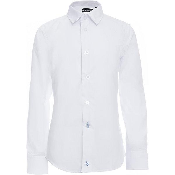 Рубашка для мальчика OrbyБлузки и рубашки<br>Характеристики товара:<br><br>• цвет: белый<br>• состав ткани: 65 % ПЭ, 35 % хлопок<br>• особенности: школьная, праздничная<br>• длинные рукава<br>• застежка: пуговицы<br>• отложной воротник<br>• сезон: круглый год<br>• страна бренда: Россия<br>• страна изготовитель: Россия<br><br>Белая классическая рубашка для мальчика Orby - базовая вещь гардероба. Такая классическая сорочка хорошо дополнит школьную форму. <br><br>Модель сшита из материала с добавлением натурального хлопка. Классическая рубашка поможет ребенку выглядеть стильно и чувствовать себя комфортно. <br><br>Рубашку для мальчика Orby (Орби) можно купить в нашем интернет-магазине.<br>Ширина мм: 174; Глубина мм: 10; Высота мм: 169; Вес г: 157; Цвет: белый; Возраст от месяцев: 72; Возраст до месяцев: 84; Пол: Мужской; Возраст: Детский; Размер: 122,170,164,158,152,146,140,134,128; SKU: 6960363;