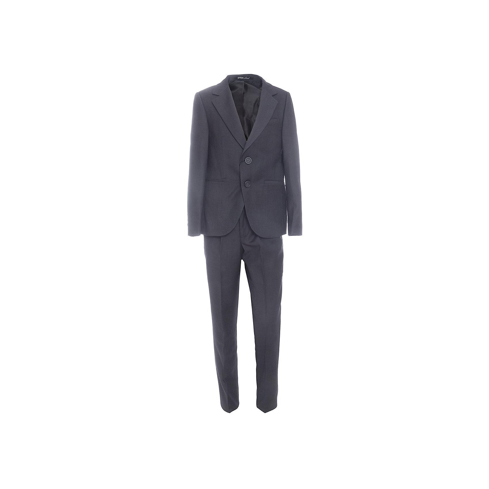 Комплект: пиджак и брюки для мальчика OrbyПиджаки и костюмы<br>Характеристики товара:<br><br>• цвет: серый<br>• состав ткани: 70 % ПЭ, 30% вискоза<br>• комплектация: пиджак, брюки<br>• особенности: школьная, праздничная<br>• застежка пиджака: пуговицы<br>• застежка брюк: молния<br>• регулируемая талия брюк<br>• шлевки для ремня<br>• сезон: круглый год<br>• страна бренда: Россия<br>• страна изготовитель: Россия<br><br>Костюм классического кроя  Orby для мальчика - отличный вариант практичной и стильной школьной одежды. <br><br>Детский костюм-двойка поможет ребенку выглядеть стильно и соответствовать школьному дресс-коду.<br><br>Комплект: пиджак и брюки для мальчика Orby (Орби) можно купить в нашем интернет-магазине.<br><br>Ширина мм: 215<br>Глубина мм: 88<br>Высота мм: 191<br>Вес г: 336<br>Цвет: серый<br>Возраст от месяцев: 72<br>Возраст до месяцев: 84<br>Пол: Мужской<br>Возраст: Детский<br>Размер: 122,128,134,140,146,152,158,164<br>SKU: 6960939