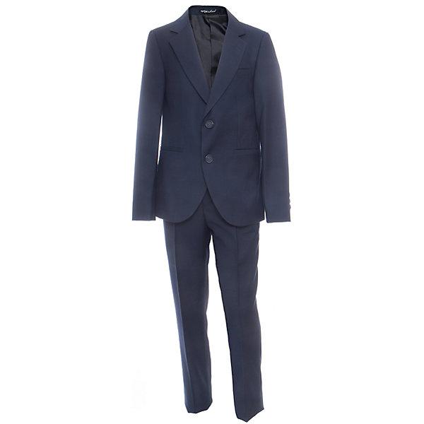 Комплект: пиджак и брюки для мальчика OrbyПиджаки и костюмы<br>Характеристики товара:<br><br>• цвет: синий<br>• состав ткани: 70 % ПЭ, 30% вискоза<br>• комплектация: пиджак, брюки<br>• особенности: школьная, праздничная<br>• застежка пиджака: пуговицы<br>• застежка брюк: молния<br>• регулируемая талия брюк<br>• шлевки для ремня<br>• сезон: круглый год<br>• страна бренда: Россия<br>• страна изготовитель: Россия<br><br>Классический костюм для школы может также быть отличным вариантом наряда на торжественные мероприятия.<br><br>Школьная одежда бывает удобной и красивой. Детский костюм-двойка Orby поможет ребенку чувствовать себя комфортно и выглядеть модно.<br><br>Комплект: пиджак и брюки для мальчика Orby (Орби) можно купить в нашем интернет-магазине.<br><br>Ширина мм: 215<br>Глубина мм: 88<br>Высота мм: 191<br>Вес г: 336<br>Цвет: синий<br>Возраст от месяцев: 144<br>Возраст до месяцев: 156<br>Пол: Мужской<br>Возраст: Детский<br>Размер: 158,164,152,146,140,134,128,122<br>SKU: 6960948