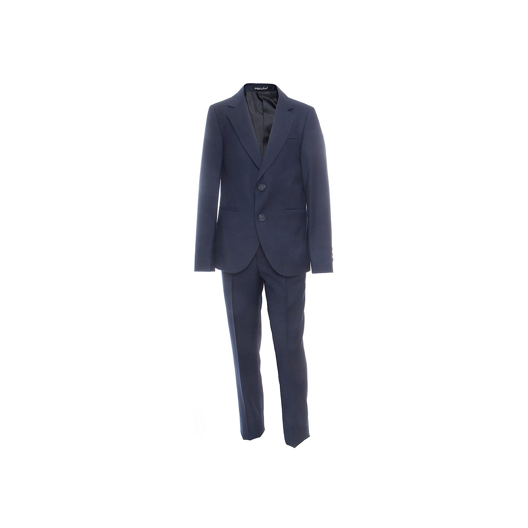 Комплект: пиджак и брюки для мальчика OrbyПиджаки и костюмы<br>Характеристики товара:<br><br>• цвет: синий<br>• состав ткани: 70 % ПЭ, 30% вискоза<br>• комплектация: пиджак, брюки<br>• особенности: школьная, праздничная<br>• застежка пиджака: пуговицы<br>• застежка брюк: молния<br>• регулируемая талия брюк<br>• шлевки для ремня<br>• сезон: круглый год<br>• страна бренда: Россия<br>• страна изготовитель: Россия<br><br>Классический костюм для школы может также быть отличным вариантом наряда на торжественные мероприятия.<br><br>Школьная одежда бывает удобной и красивой. Детский костюм-двойка Orby поможет ребенку чувствовать себя комфортно и выглядеть модно.<br><br>Комплект: пиджак и брюки для мальчика Orby (Орби) можно купить в нашем интернет-магазине.<br><br>Ширина мм: 215<br>Глубина мм: 88<br>Высота мм: 191<br>Вес г: 336<br>Цвет: синий<br>Возраст от месяцев: 144<br>Возраст до месяцев: 156<br>Пол: Мужской<br>Возраст: Детский<br>Размер: 158,164,122,128,134,140,146,152<br>SKU: 6960948